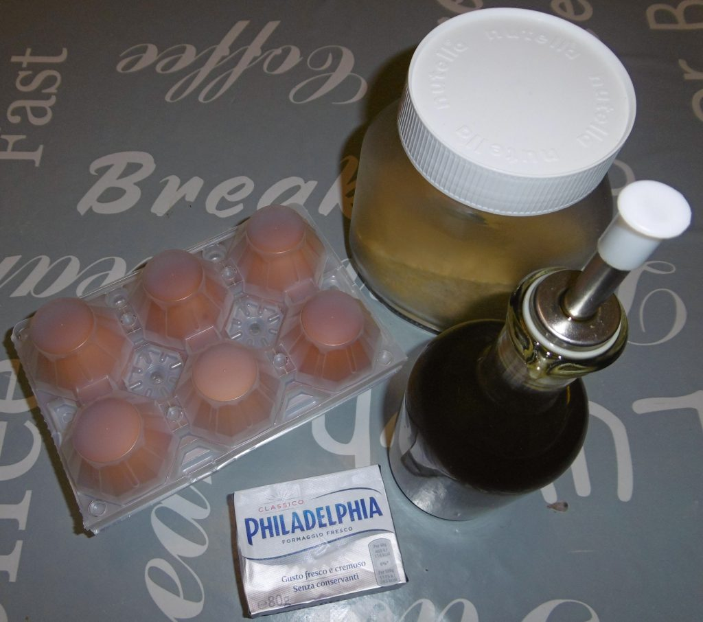 Frittata con la Philadelphia - Ingredienti