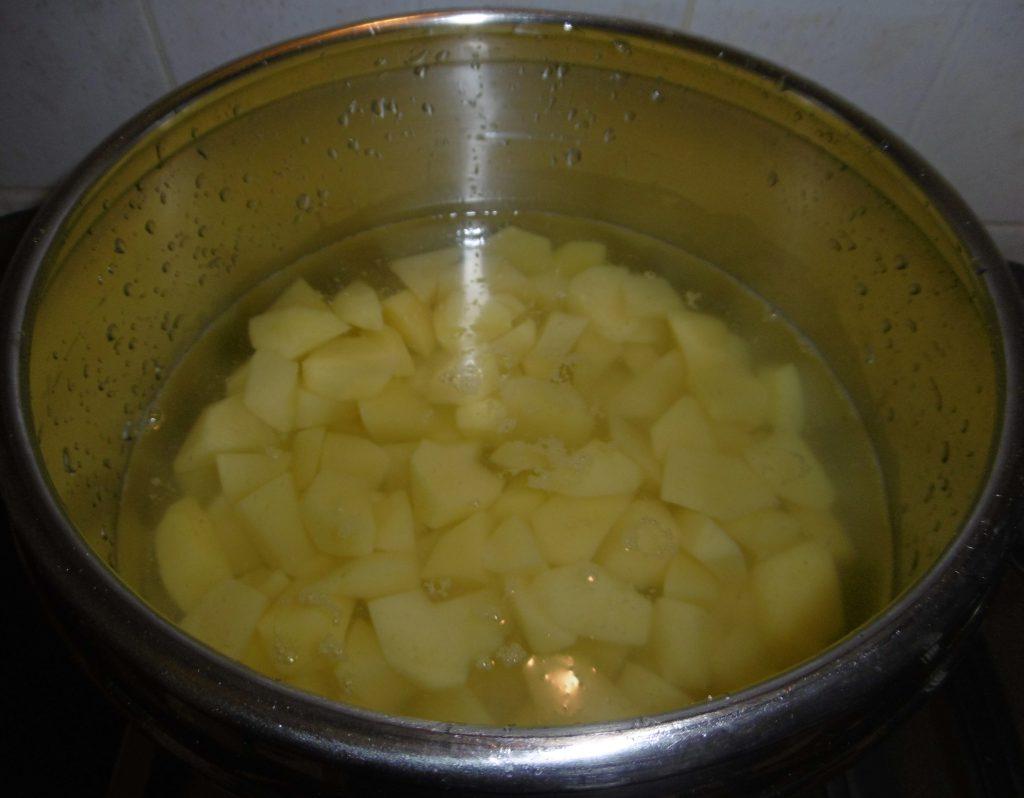 Gateau di patate - Aggiunta acqua