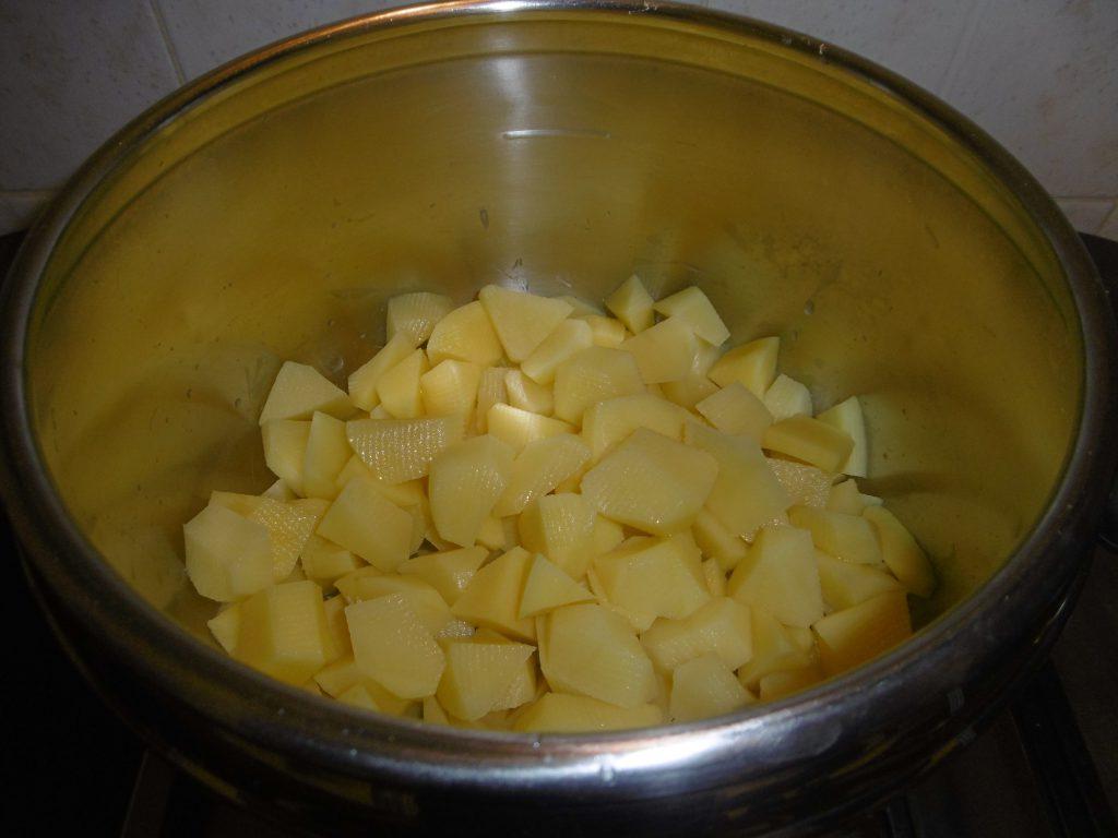 Gateau di patate- Patate tagliate