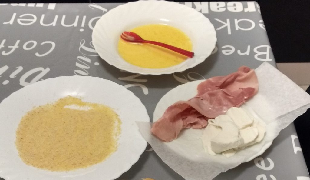 Mozzarella in carrozza al forno- Ingredienti2