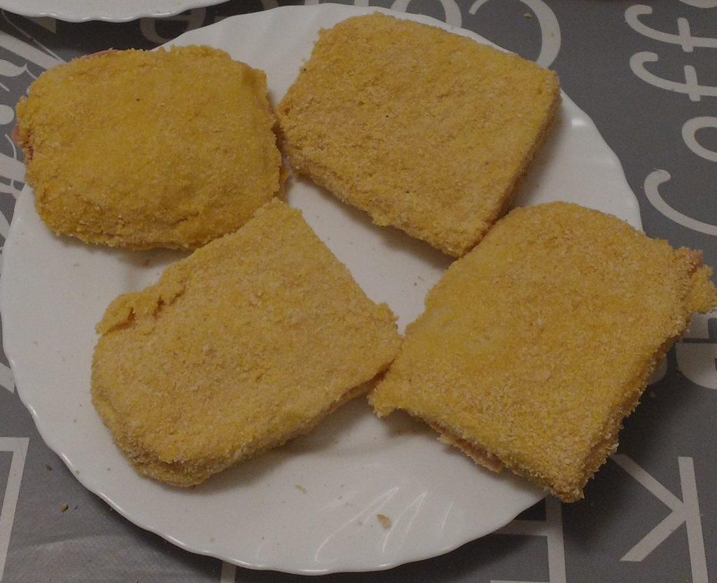 Mozzarella in carrozza al forno - Sandwich