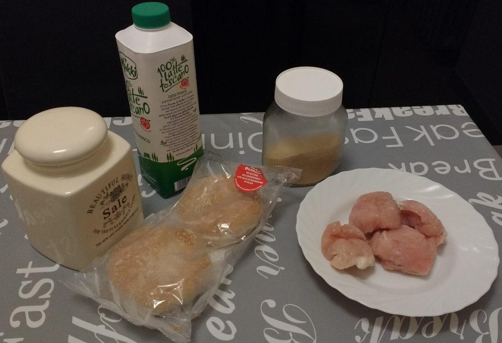 Panini hamburger di pollo - Ingredienti