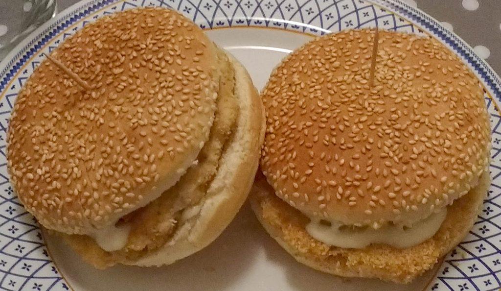 Panini hamburger di pollo - Piatto pronto1