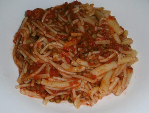 Pasta e lenticchie - Piatto pronto