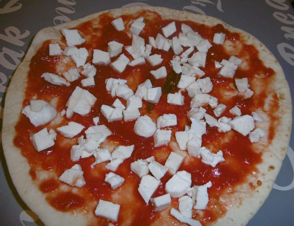 Pizza piadina - Aggiunta mozzarella