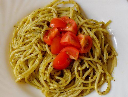Spaghetti pesto e pomodorini - Piatto pronto