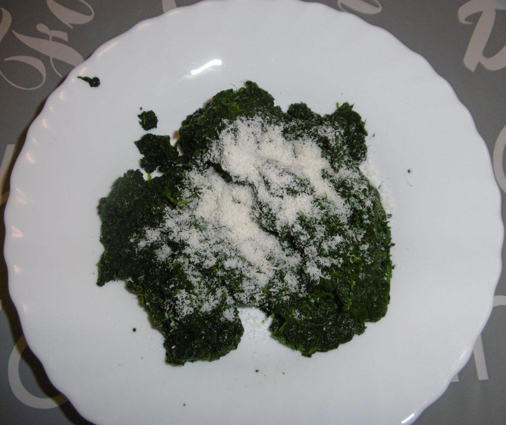 Torta salata ricotta e spinaci - Aggiunta parmigiano
