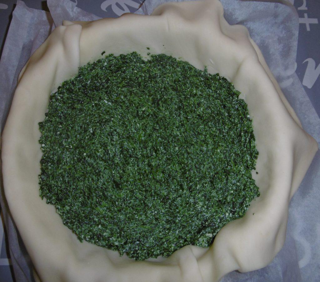 Torta salata ricotta e spinaci - Composto nella sfoglia