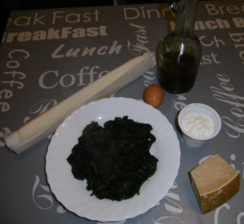 Torta salata ricotta e spinaci - Ingredienti