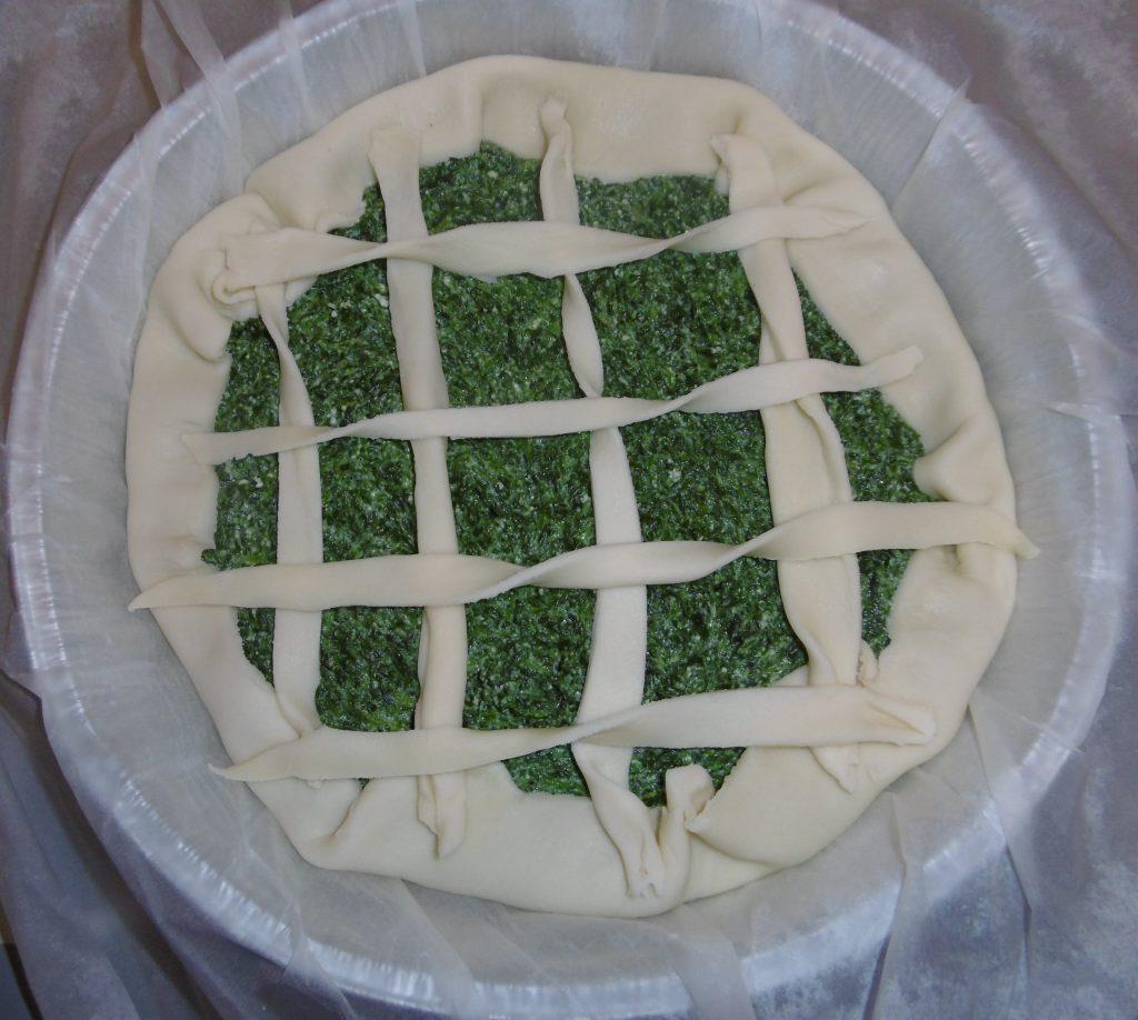 Torta salata ricotta e spinaci - Torta salata cruda