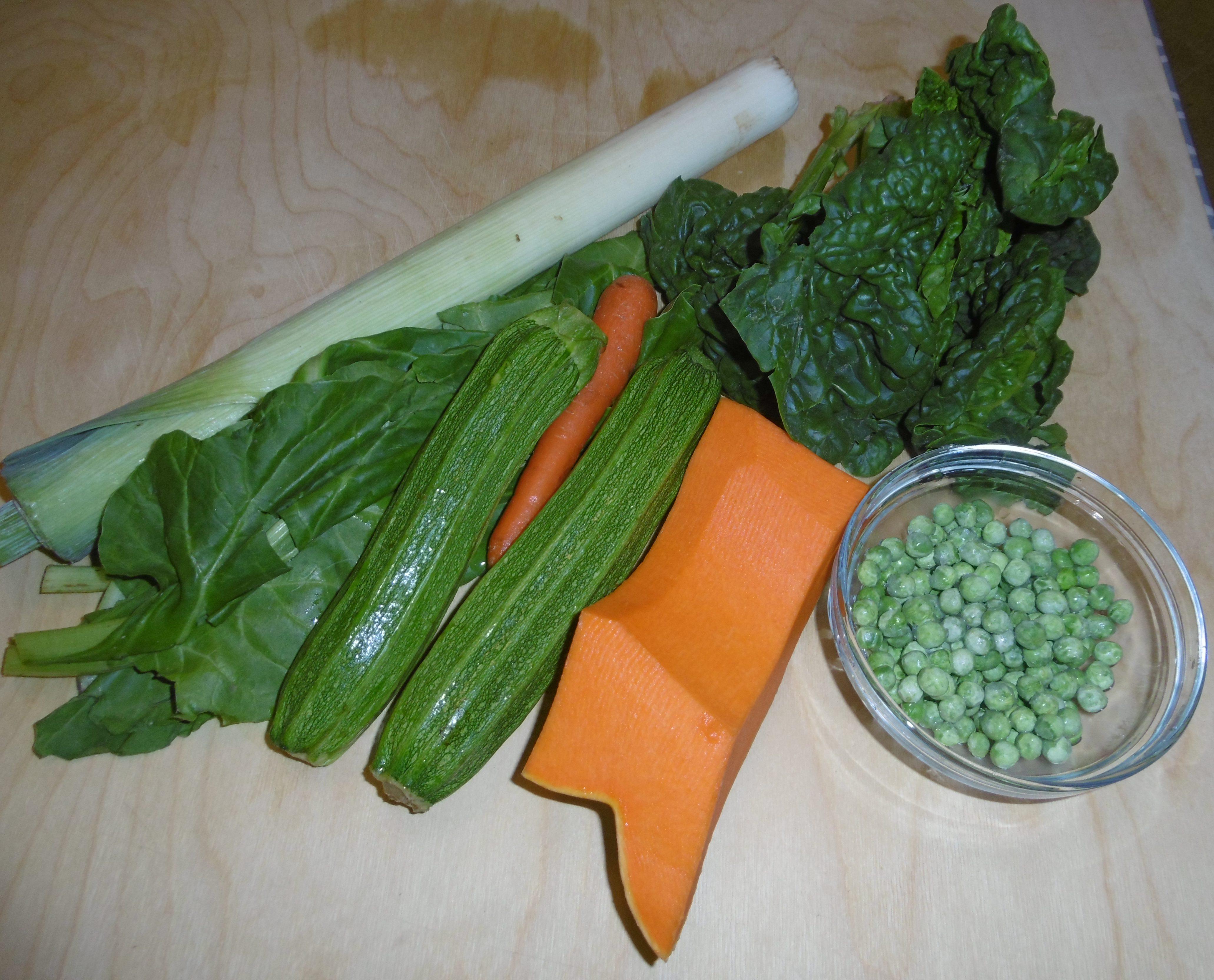 Brodo di verdure in pentola a pressione - Ingredienti