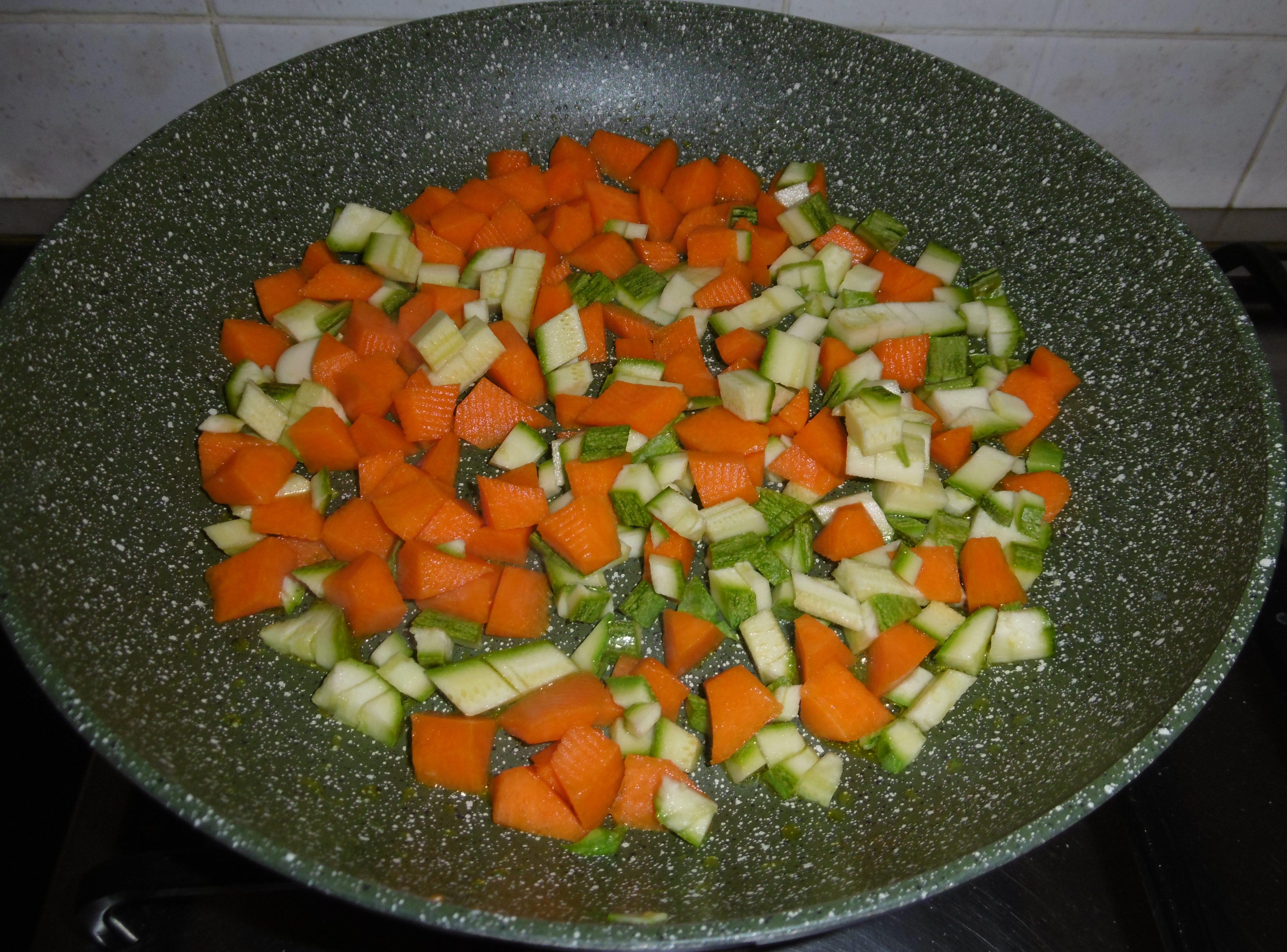 Frittata con zucca e zucchine - Soffritto