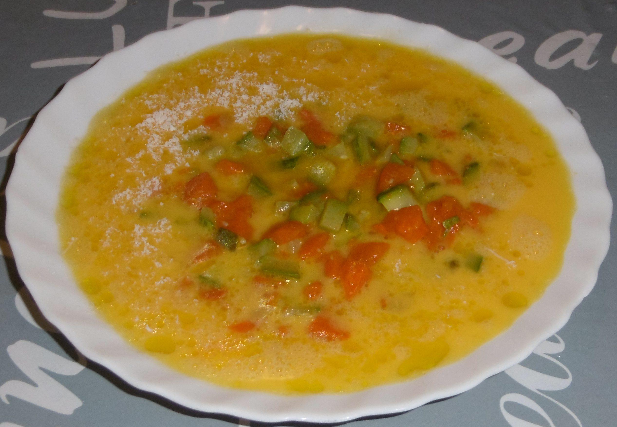 Frittata di zucca e zucchine - Tutti ingredienti insieme