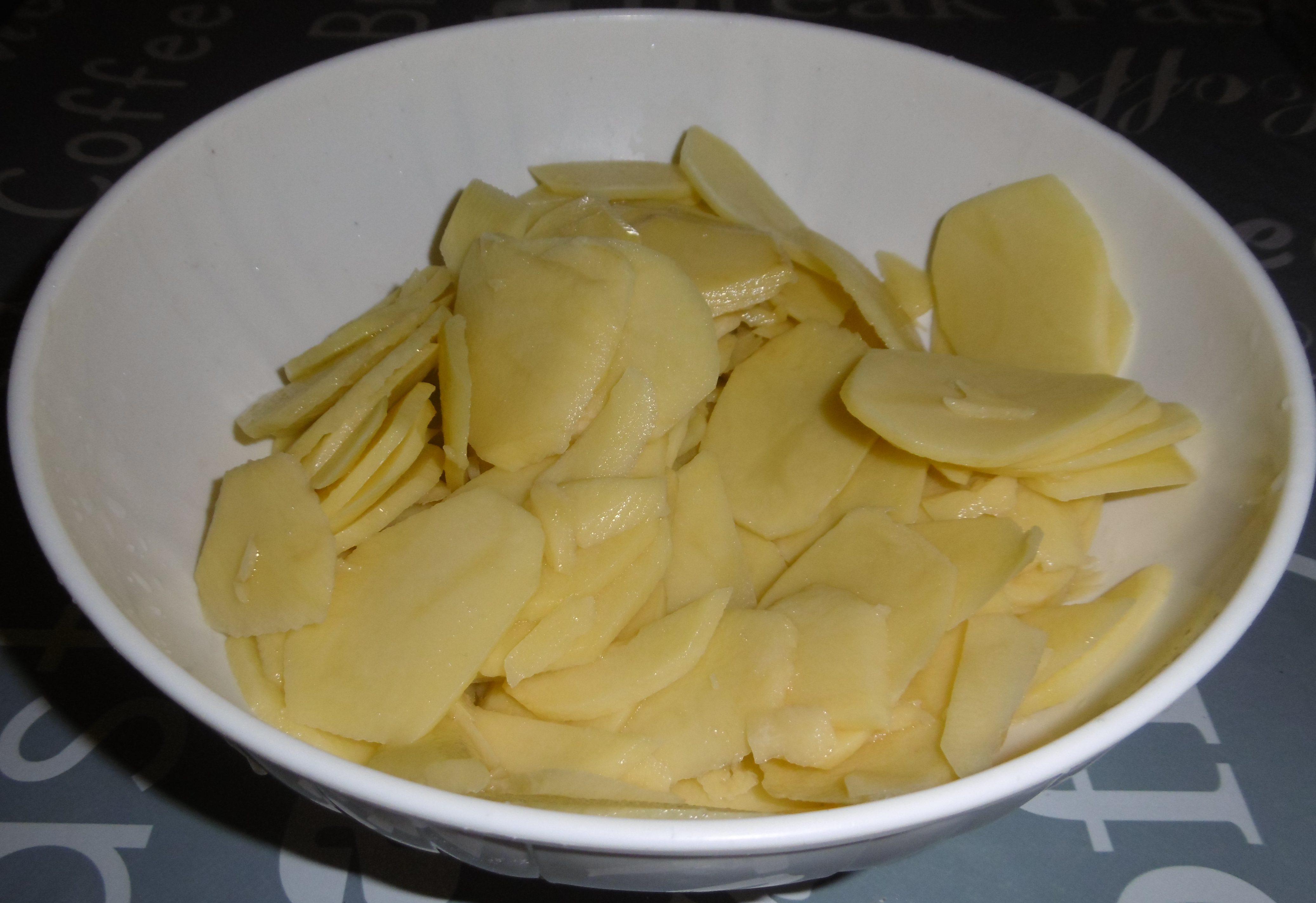 Lasagna di patate - Patate tagliate a rondelle