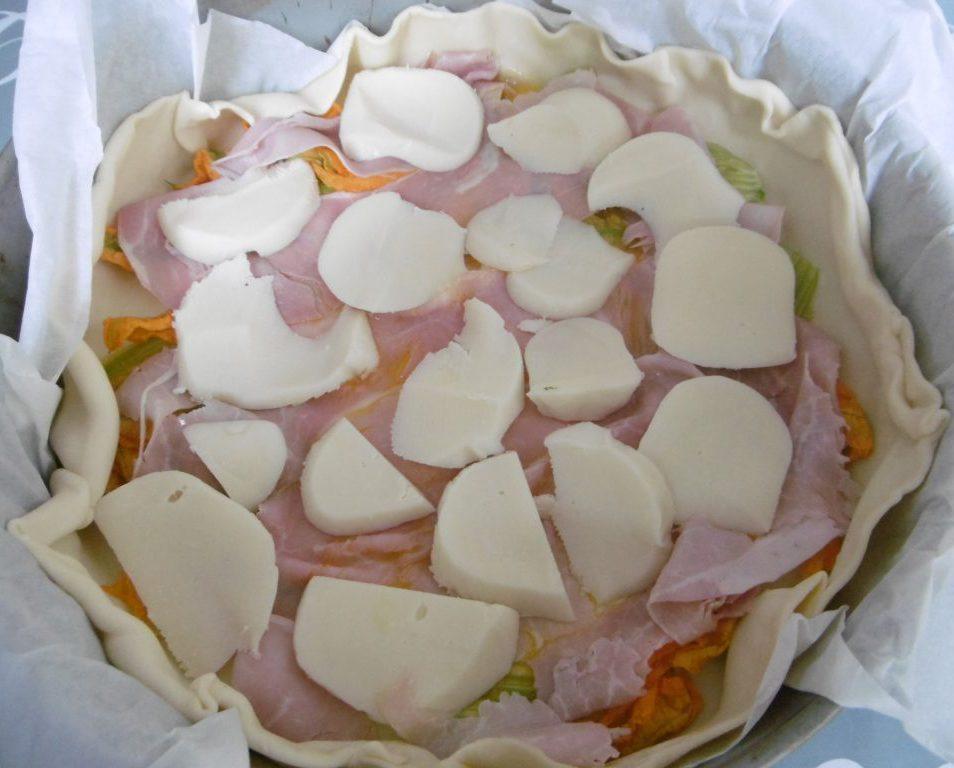 Torta salata fantasiosa - Prosciutto e formaggio