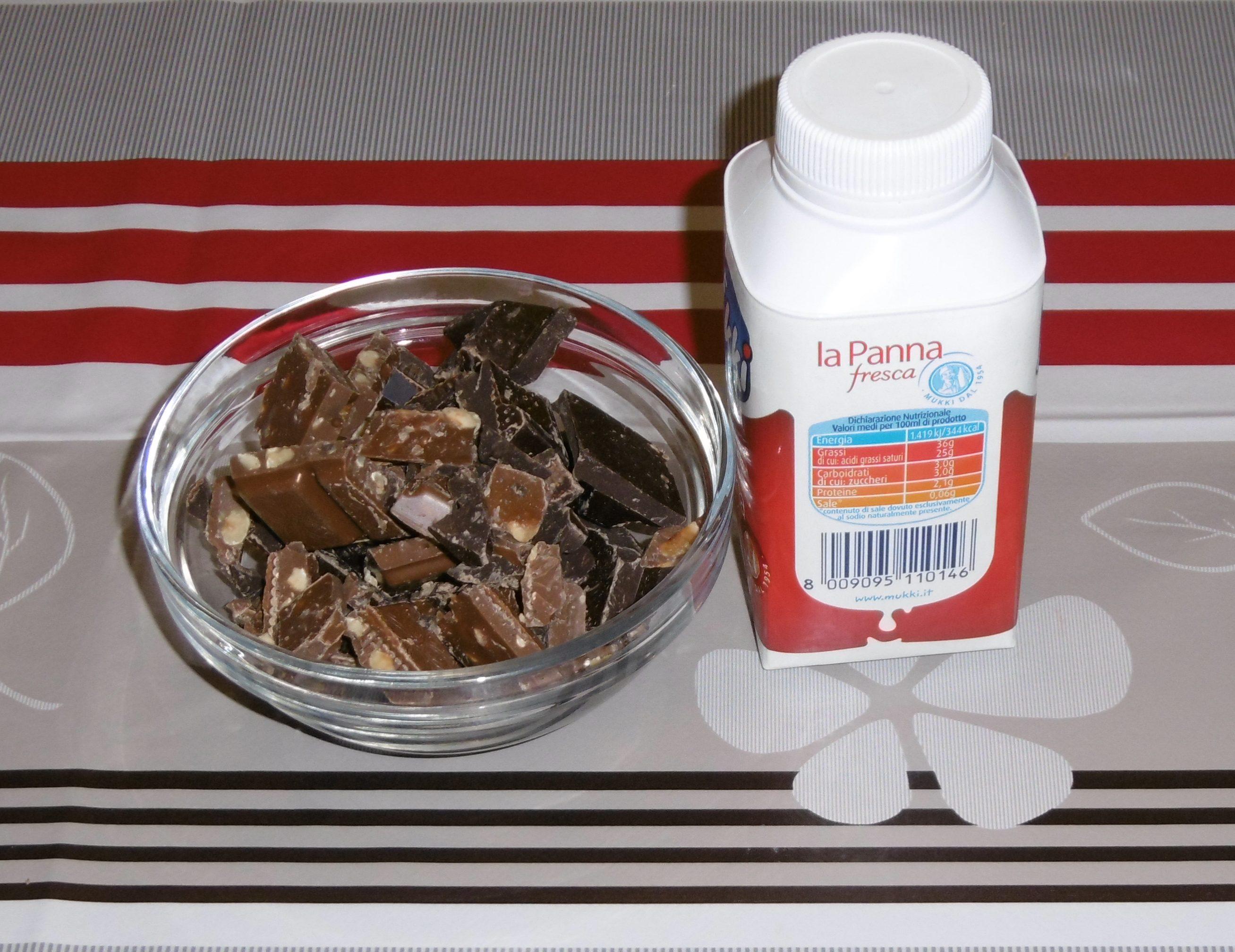Ganache al cioccolato e nocciole - Ingredienti