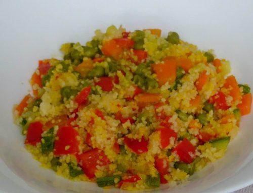 Cous cous con verdure e zafferano - Piatto pronto