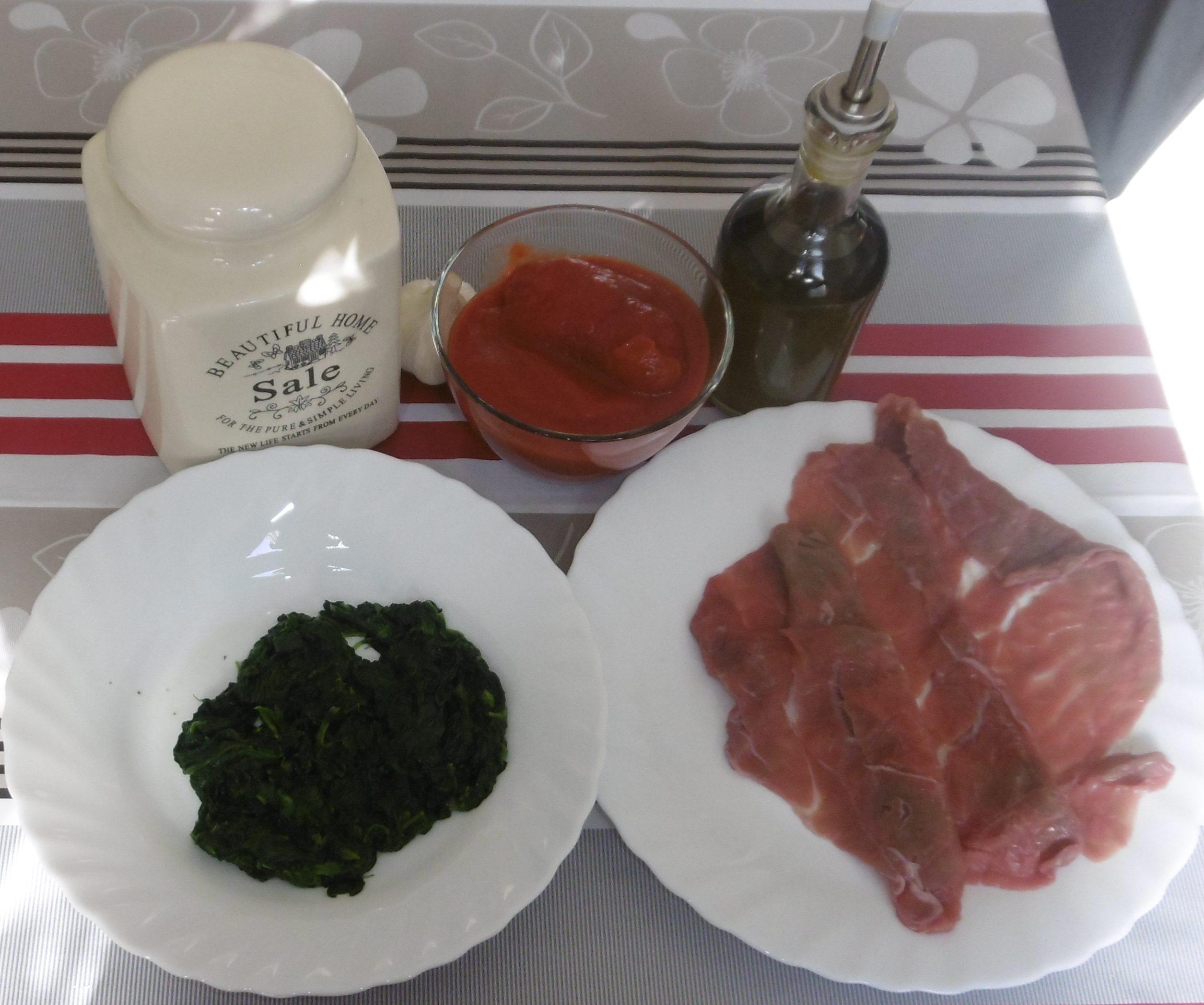Involtini di carne al sugo - Ingredienti