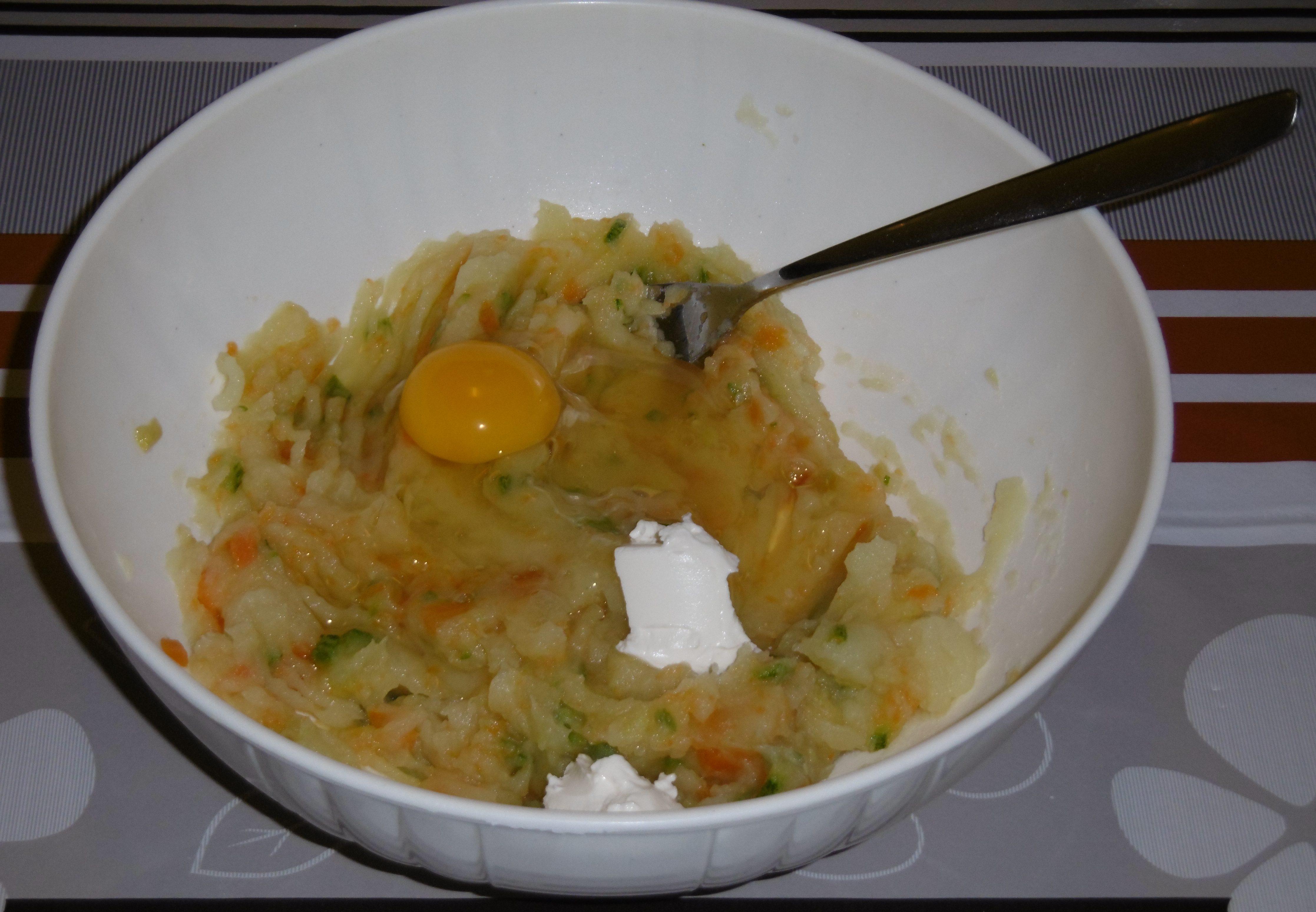 Polpette di verdure con corn flakes - Aggiunta altri ingredienti
