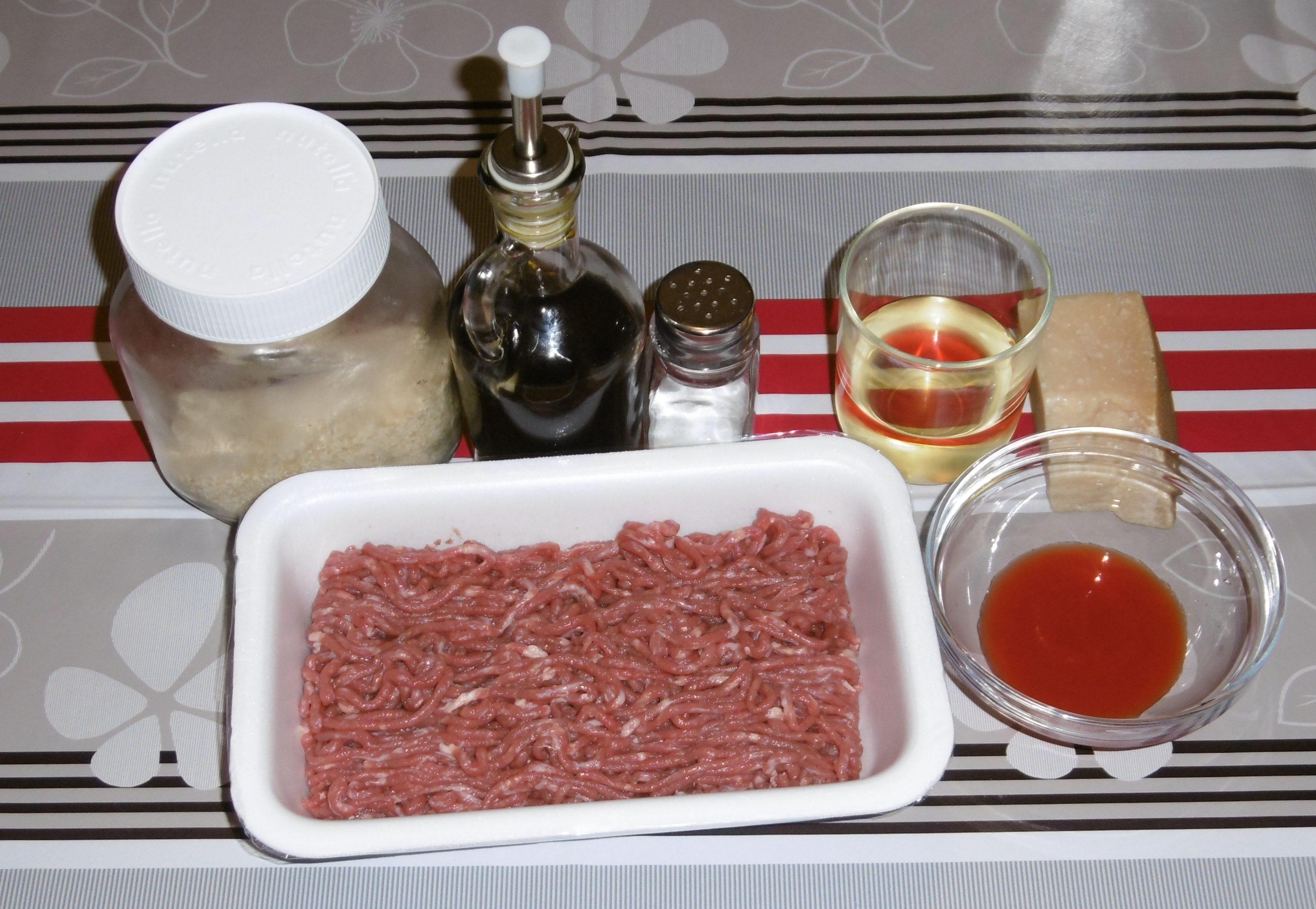 Polpettone al forno - Ingredienti