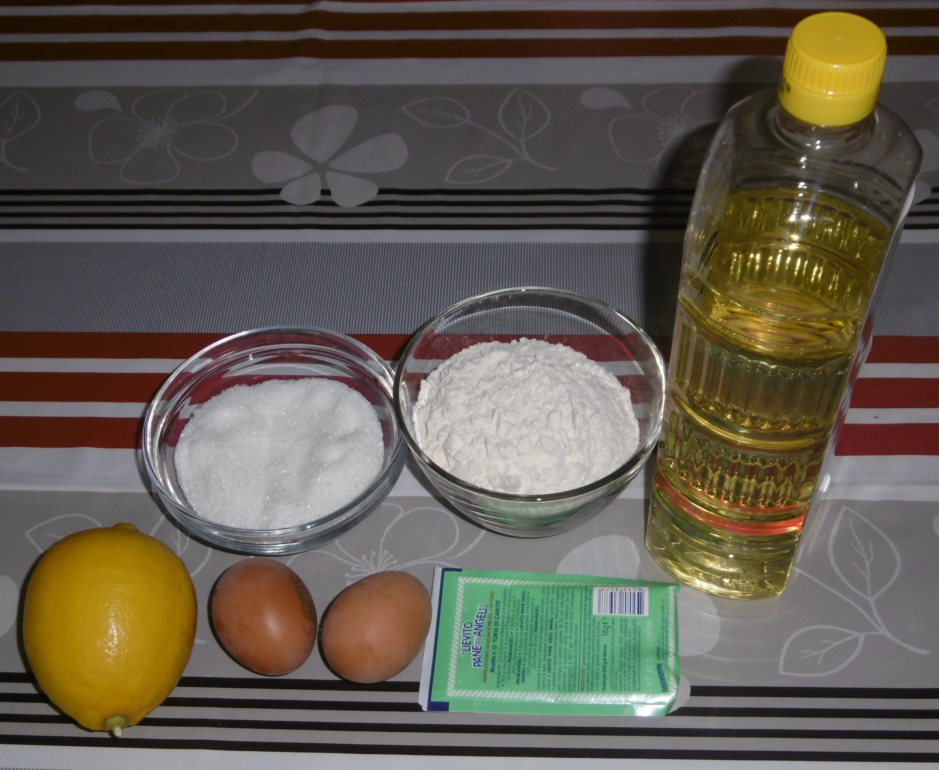 Pasta frolla senza burro - Ingredienti