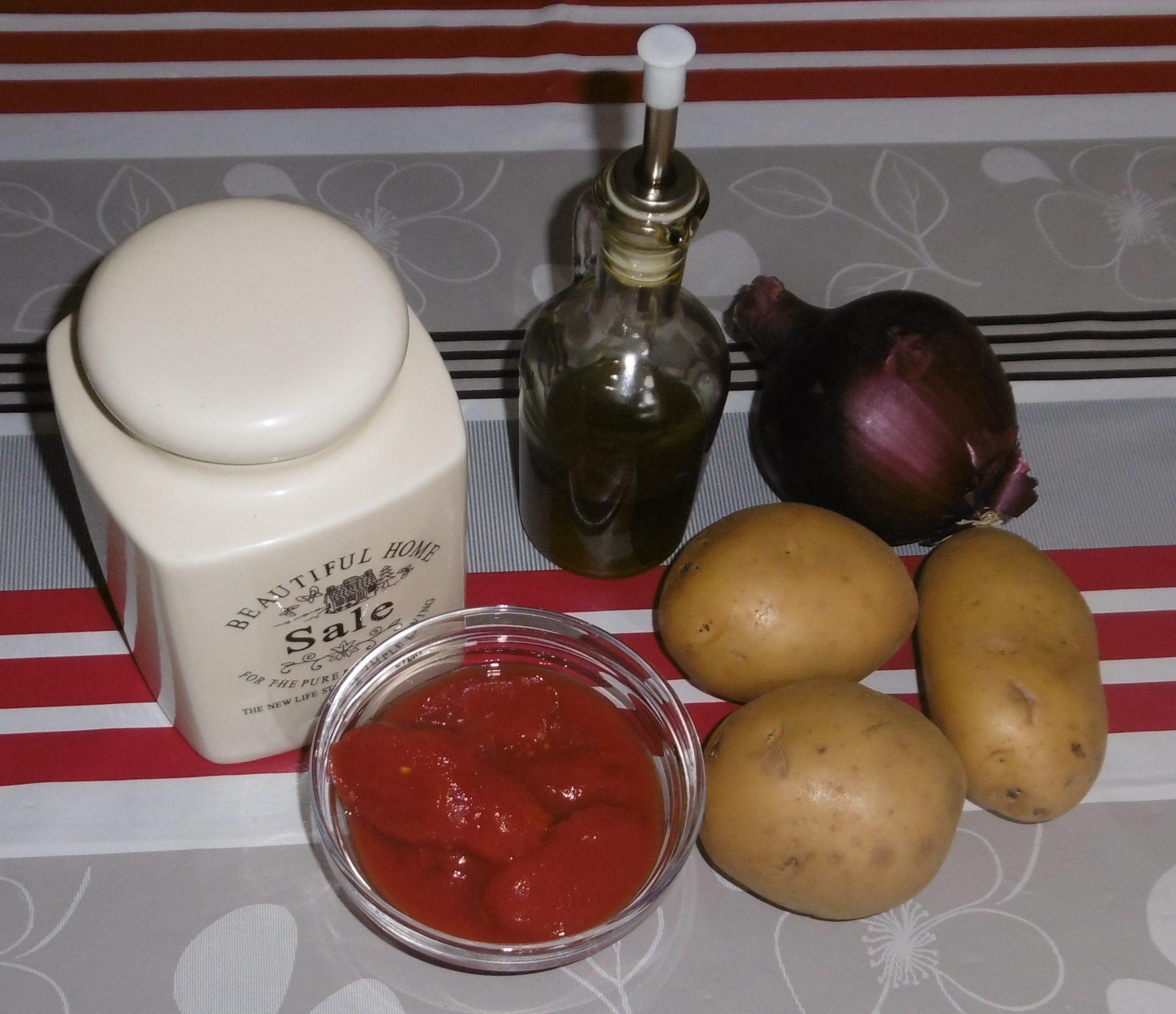Patate al pomodoro in pentola a pressione - Ingredienti