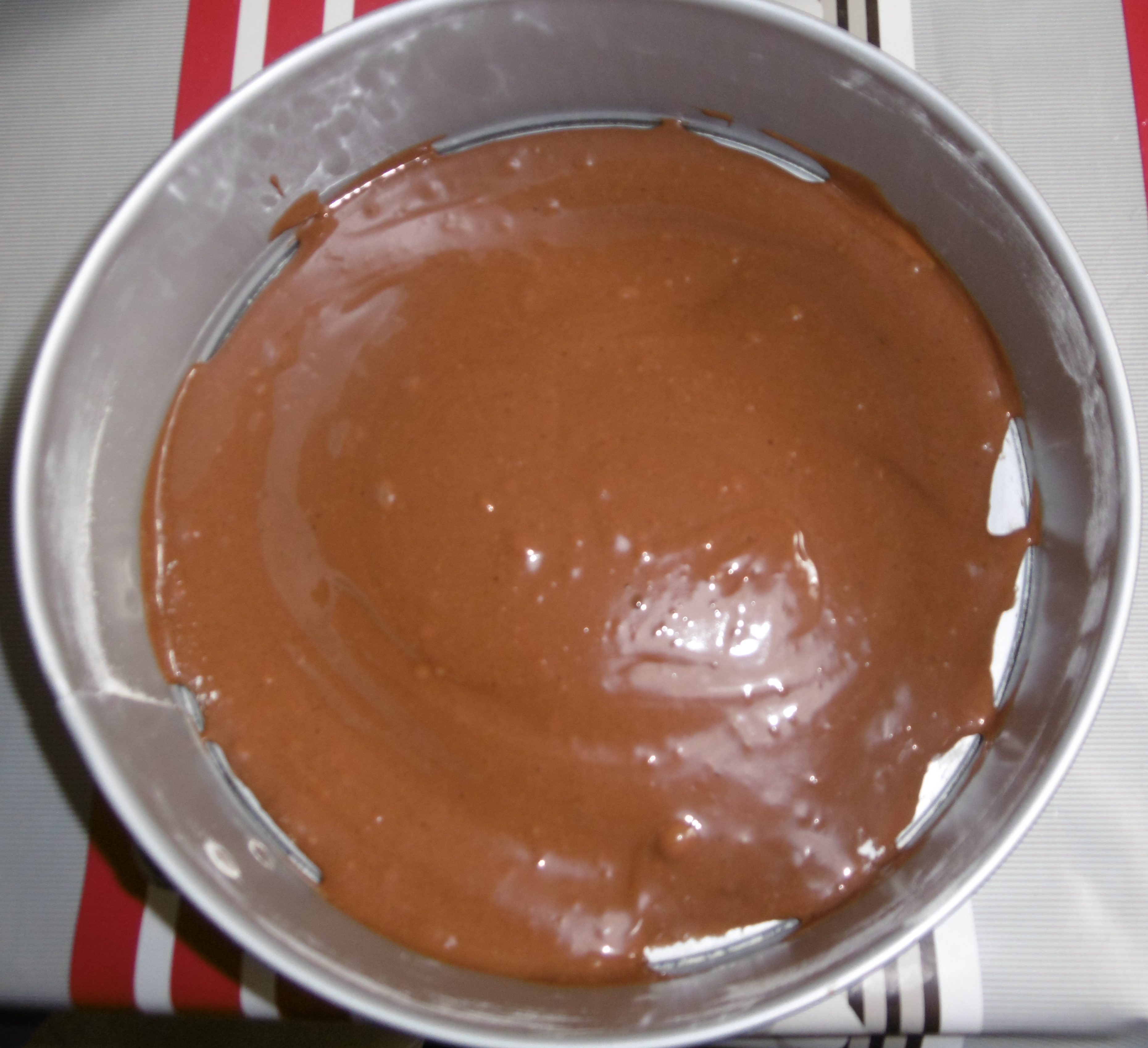 Torta pere e cioccolato - Aggiunta composto