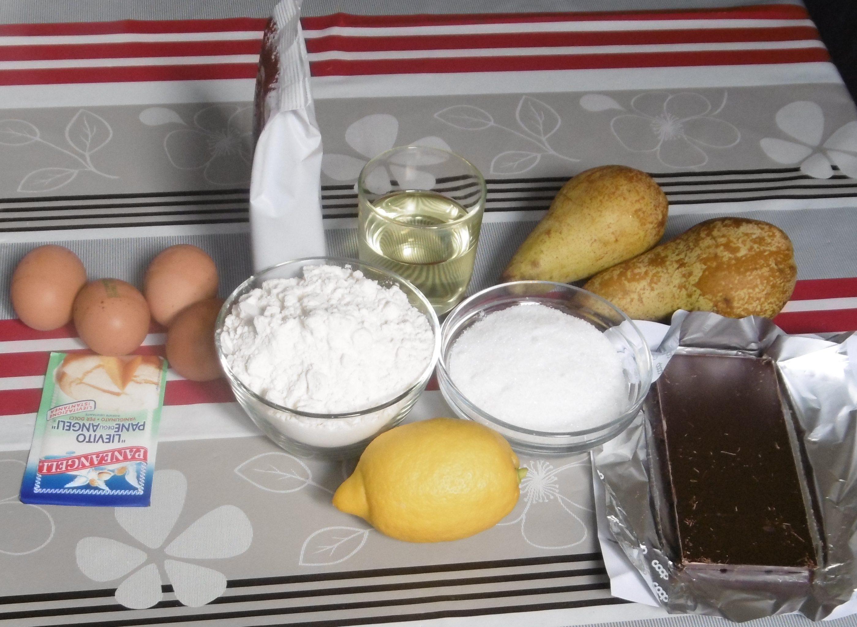 Torta pere e cioccolato - Ingredienti