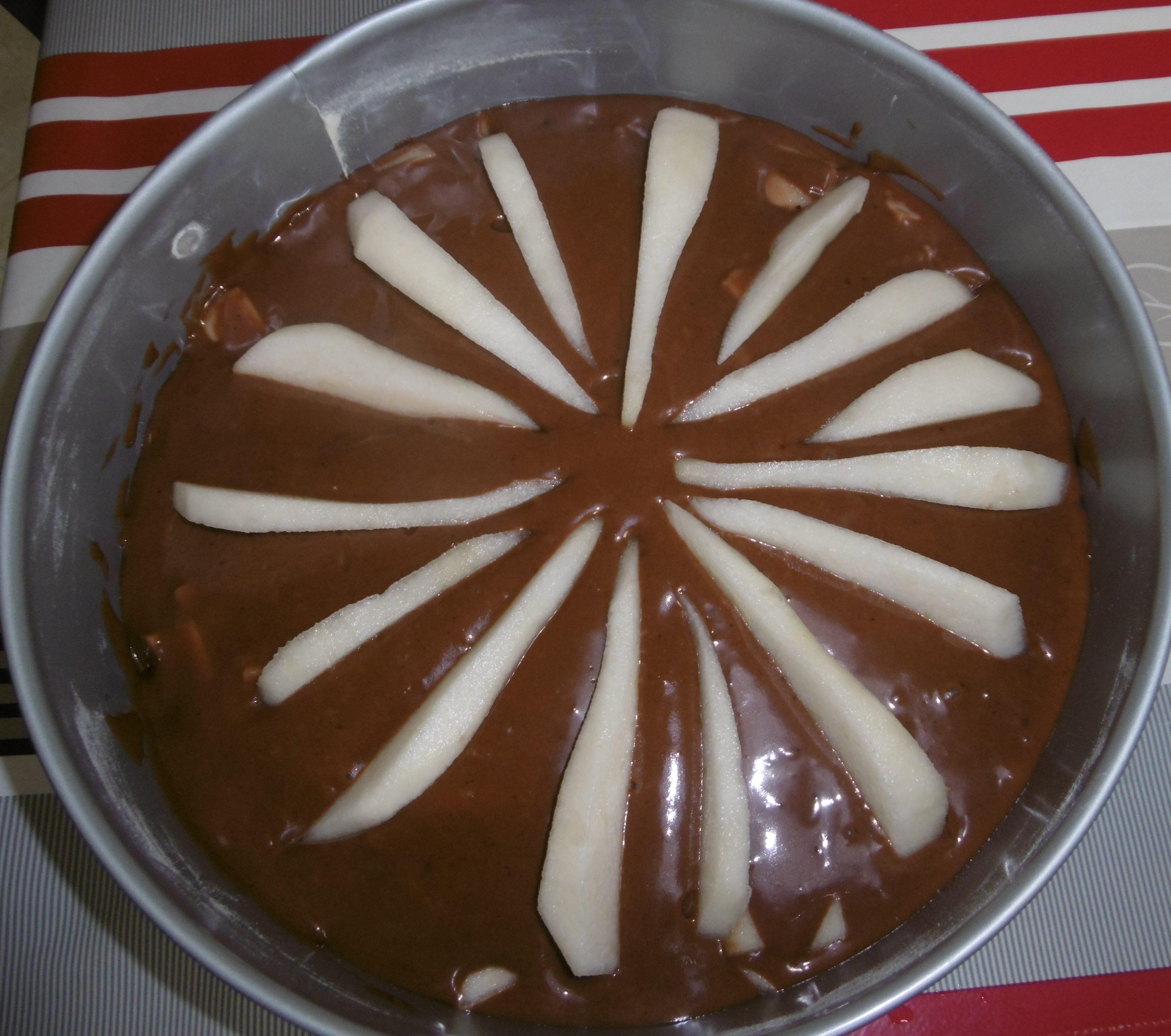 Torta pere e cioccolato - Torta cruda
