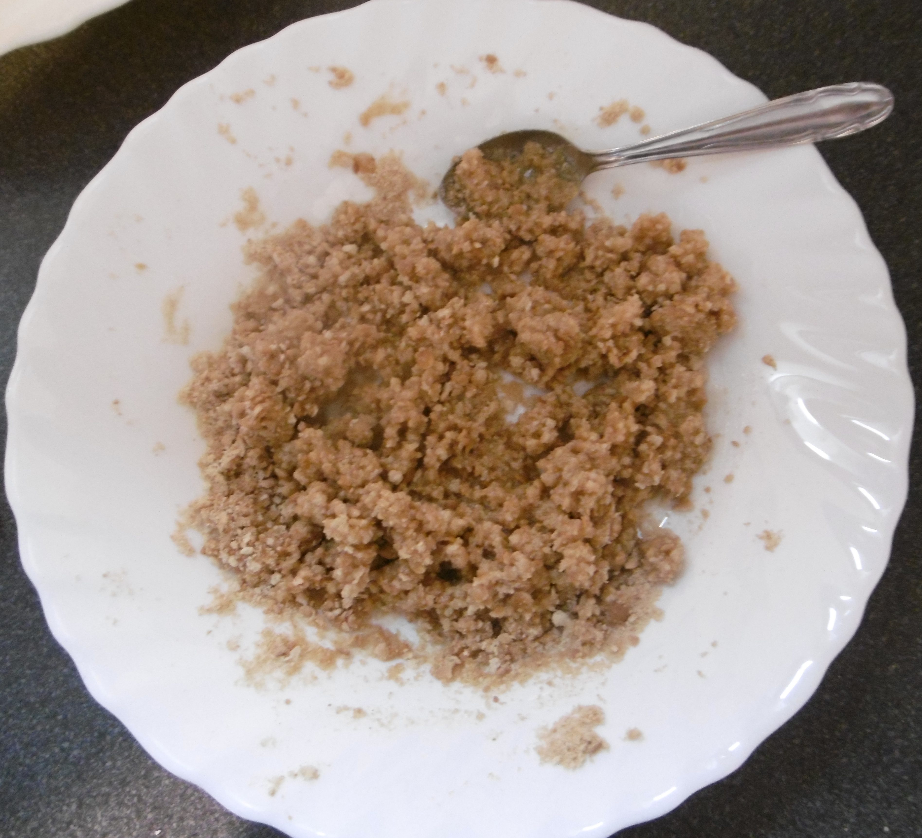 Panna cotta con base biscottata - Aggiunta burro