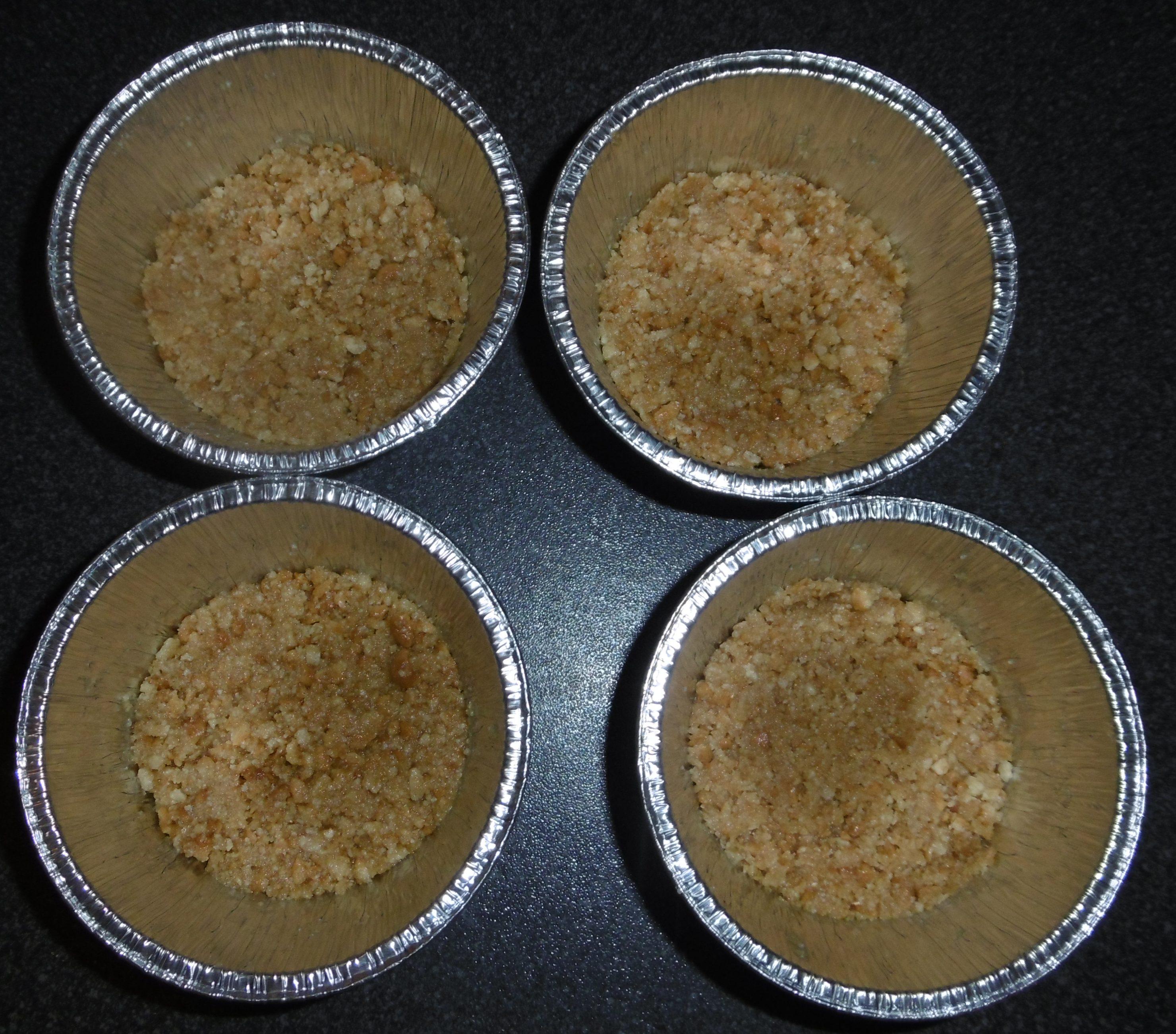 Panna cotta con base biscottata - Pirottini