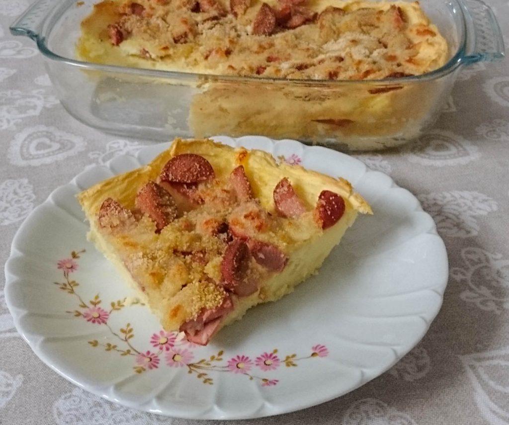 Torta di patate con wurstel e mozzarella - Piatto pronto