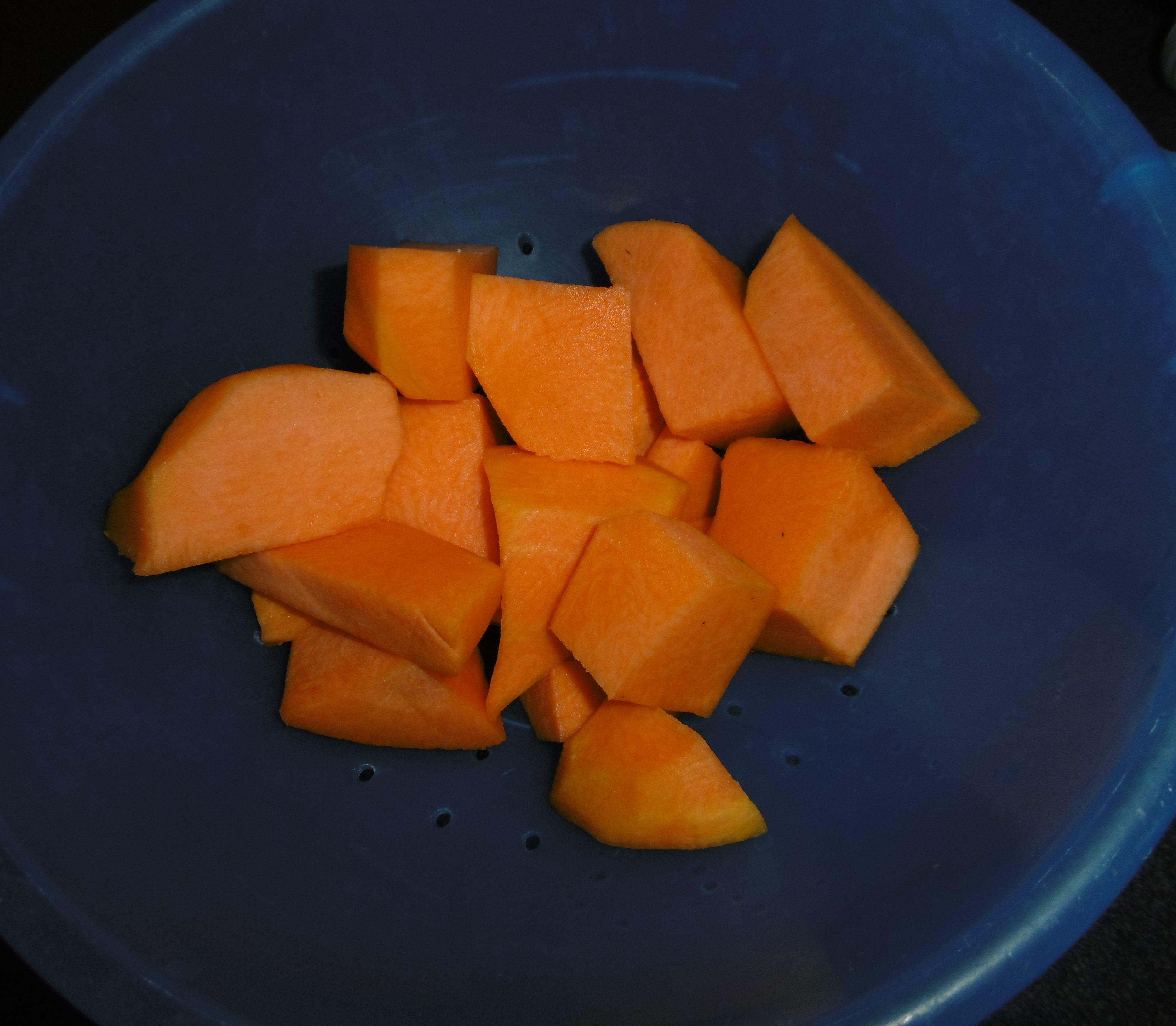 Zucca al forno - Zucca a cubetti