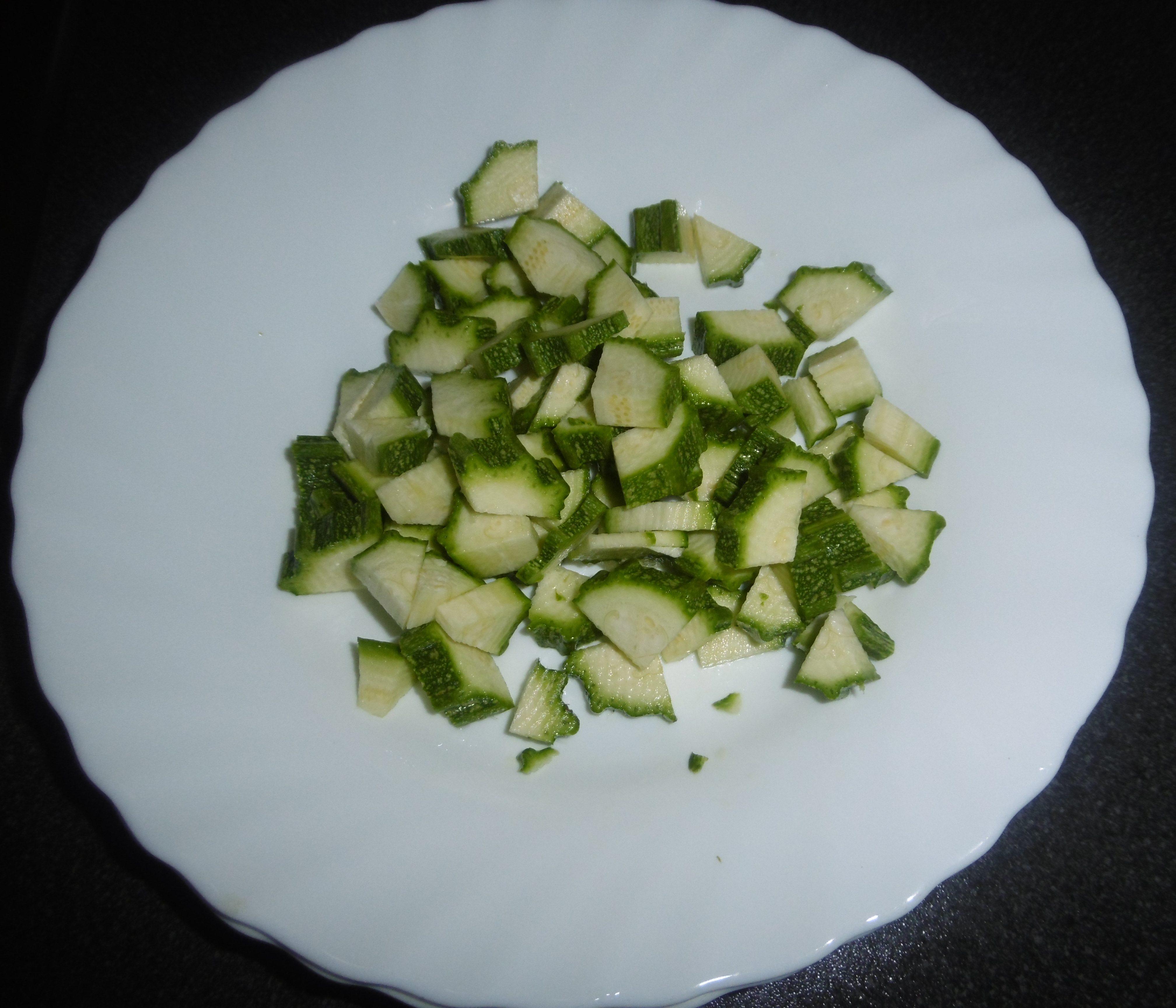 Frittata di zucchine - Zucchine tagliate