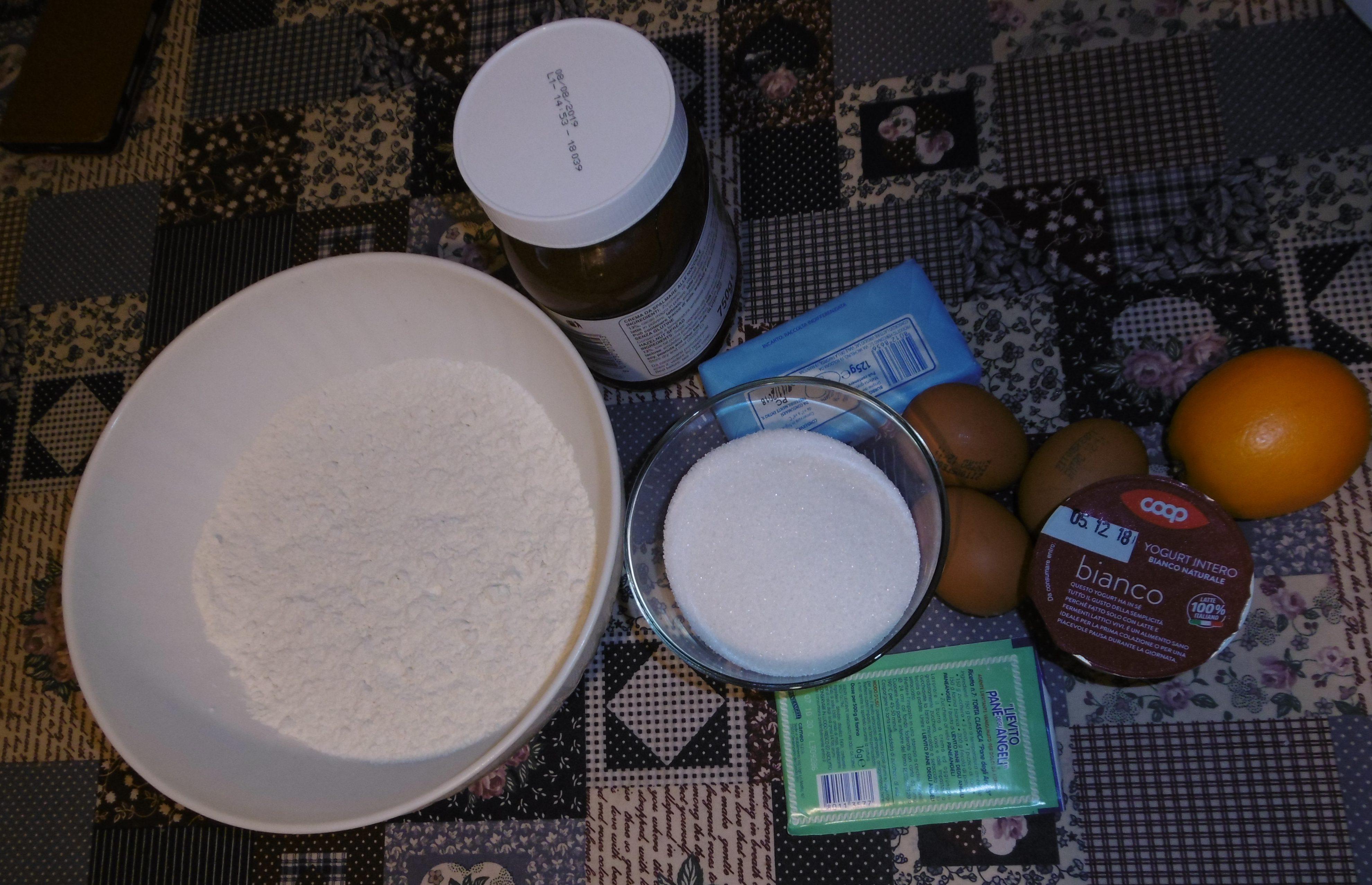 Plumcake con crema di nocciole - Ingredienti