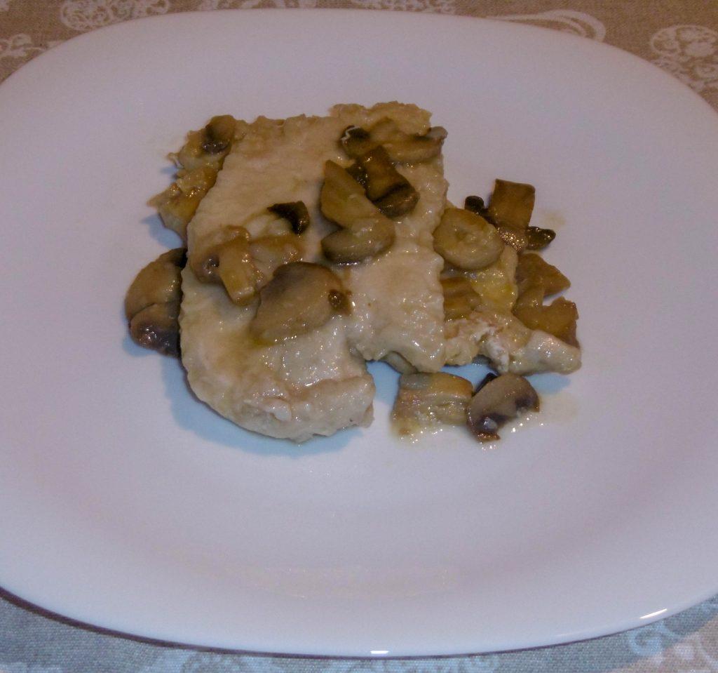 Scaloppine di tacchino ai funghi - Piatto pronto