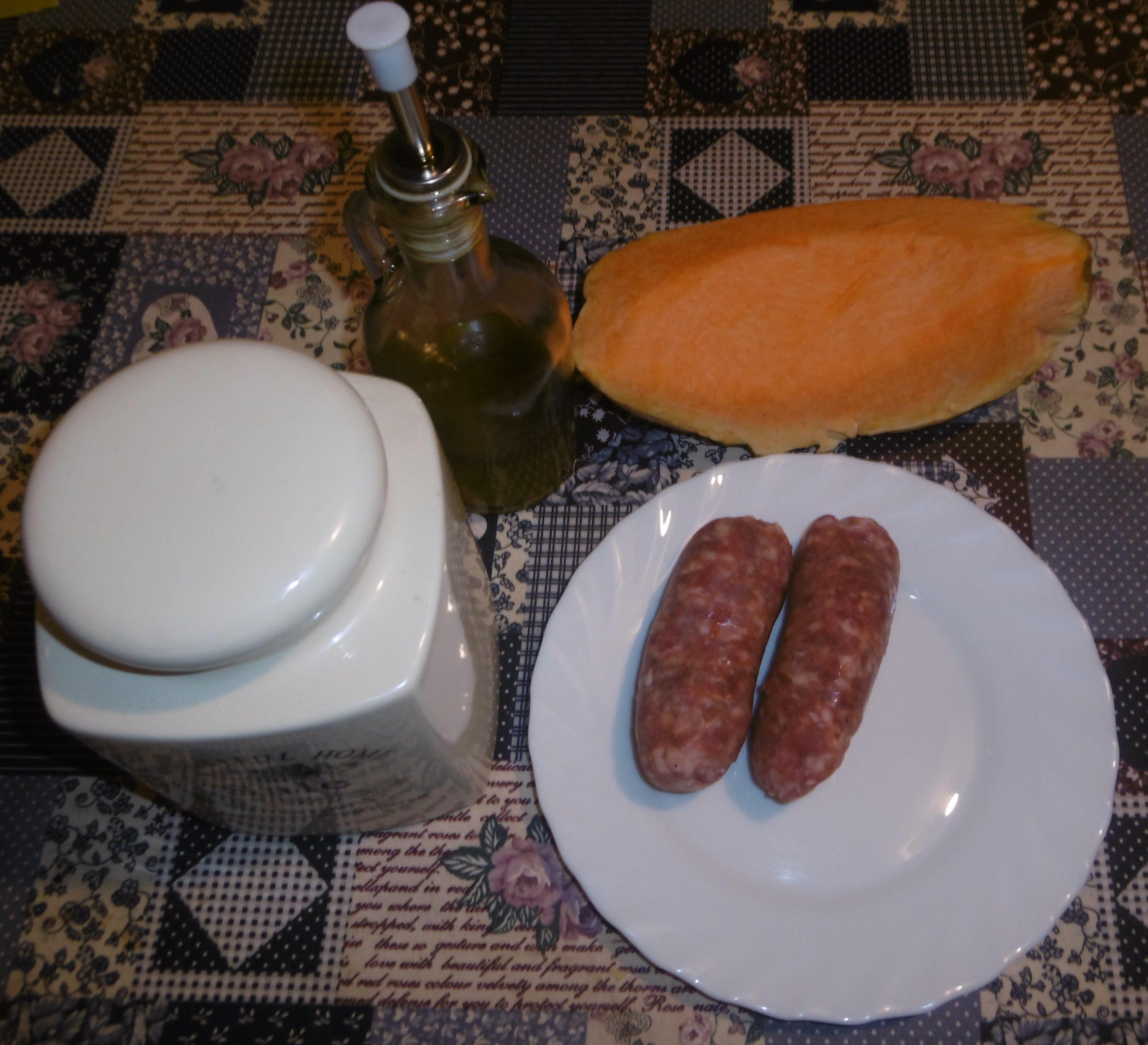 Gnocchi con zucca e salsiccia - Ingredienti