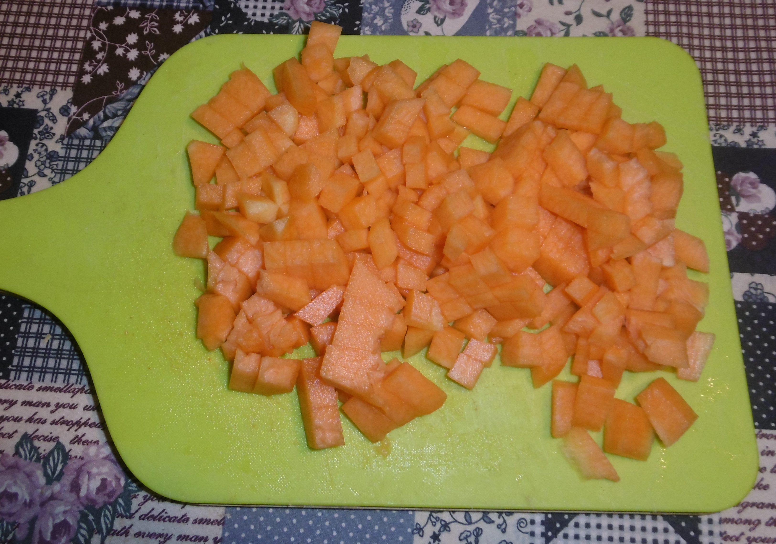 Gnocchi con zucca e salsiccia - Zucca tagliata