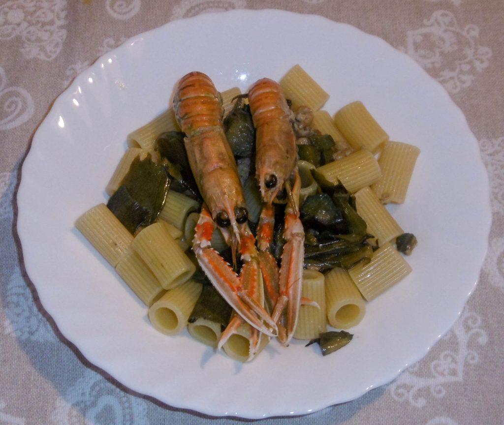 Pasta con scampi e carciofi - Piatto pronto
