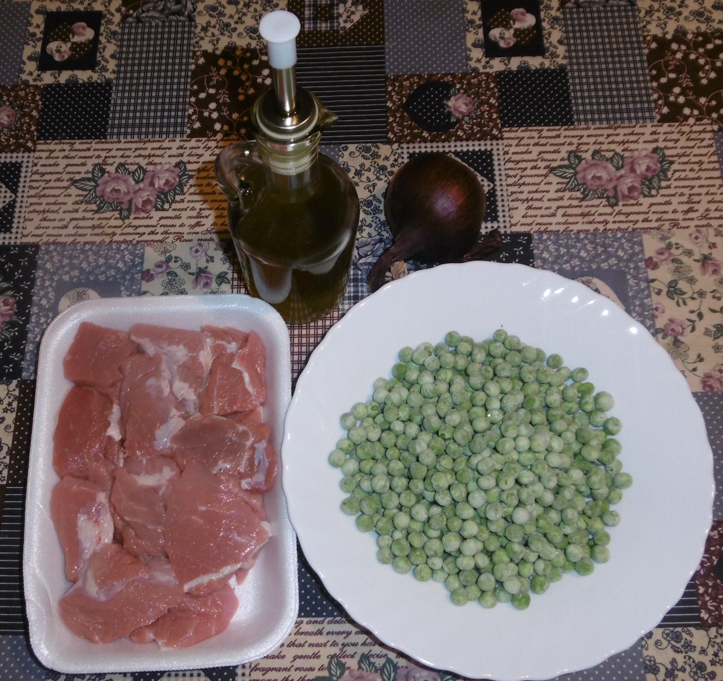 Spezzatino di vitello con piselli - Ingredienti