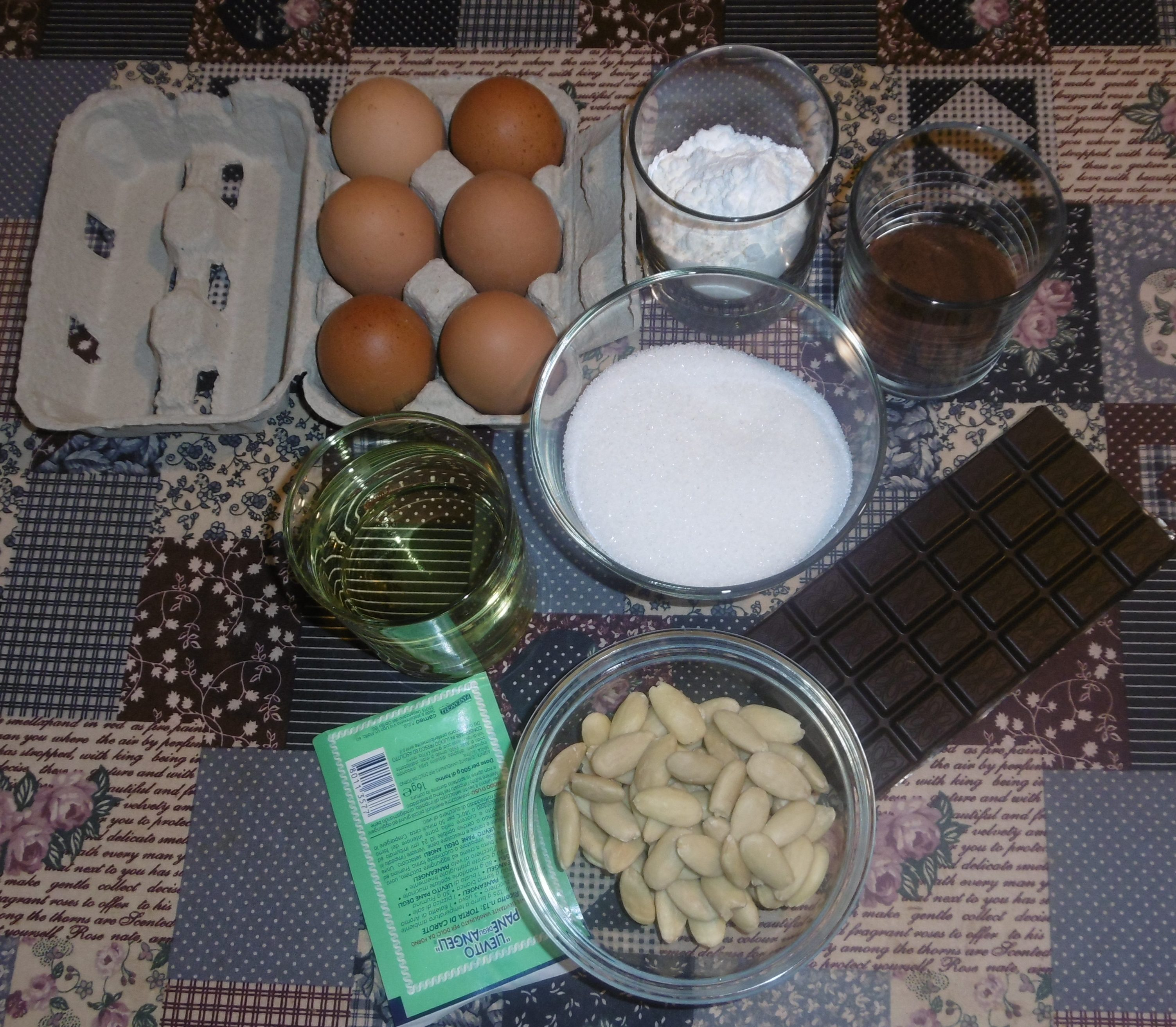 Torta caprese senza burro - Ingredienti