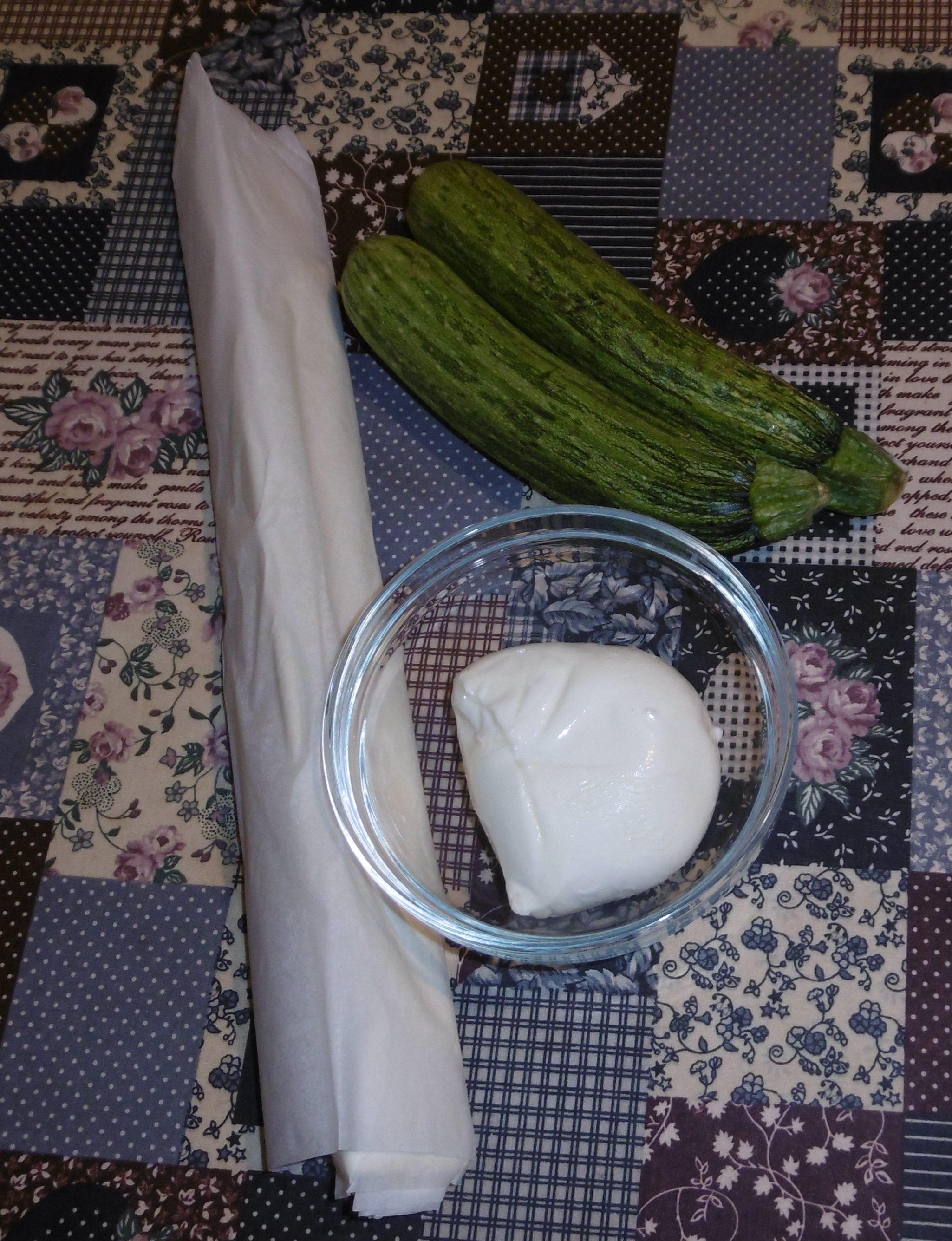 Cestini di pasta sfoglia con zucchine e mozzarella - Ingredienti