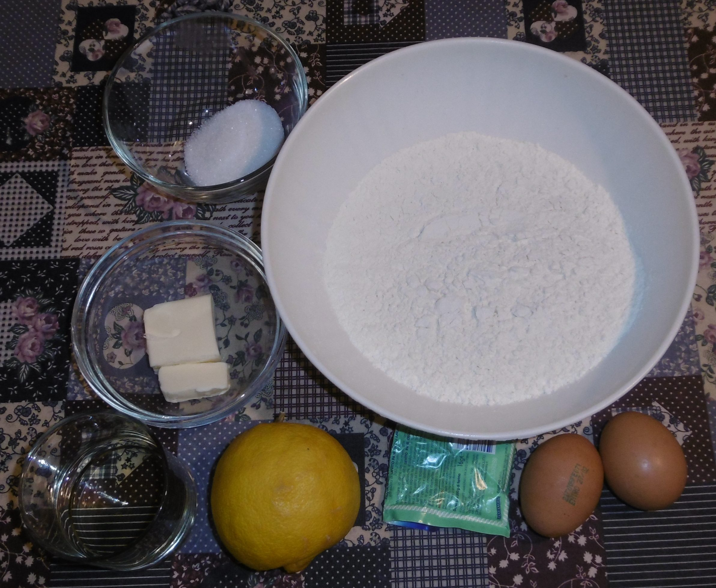 Chiacchiere di carnevale - Ingredienti