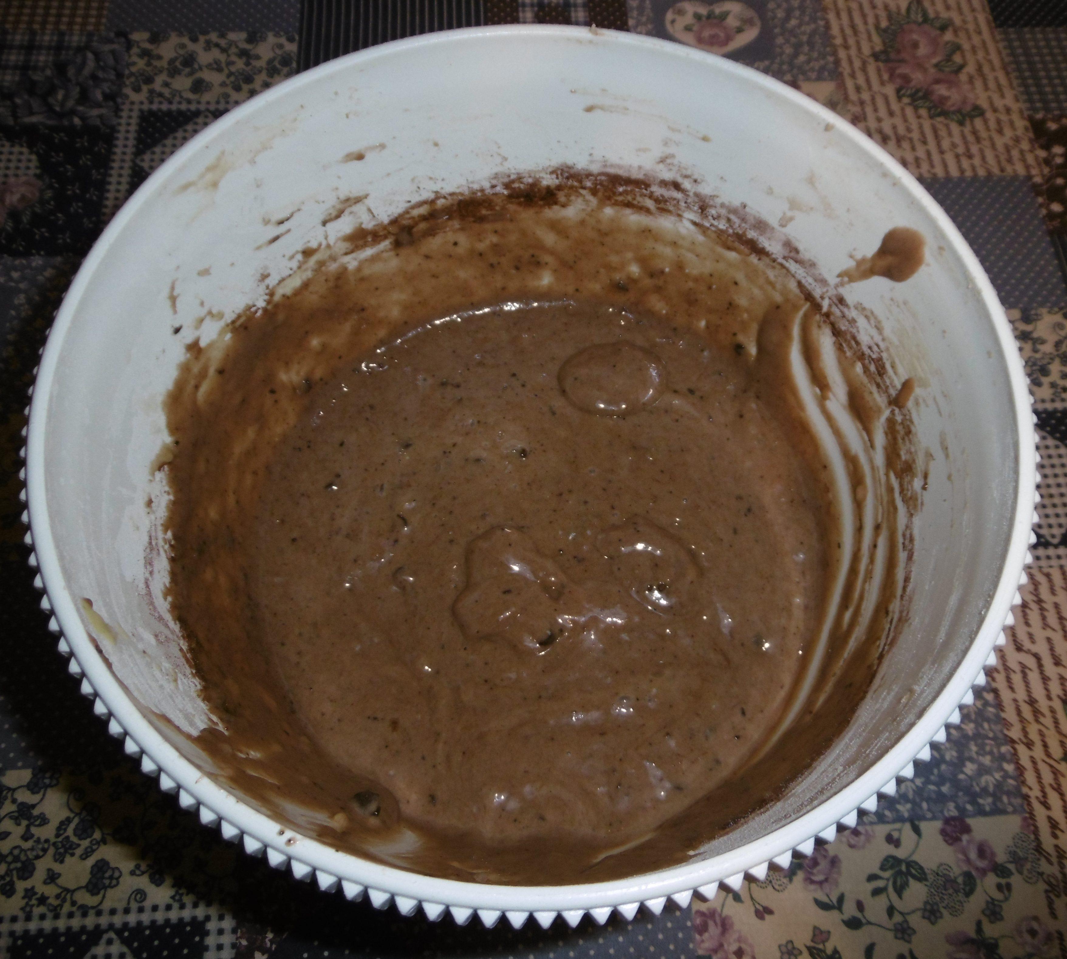 Muffin banane e cioccolato senza burro - Aggiunta cacao