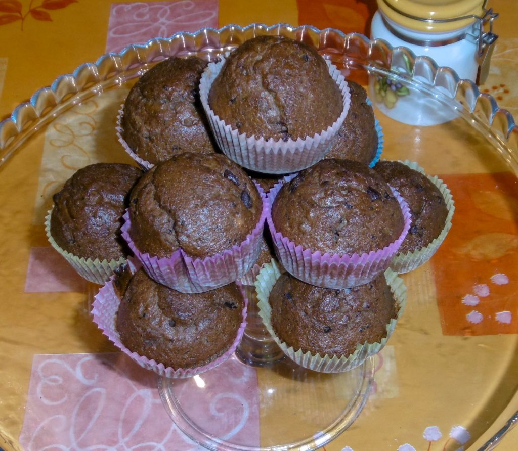 Muffin banane e cioccolato senza burro - Piatto pronto