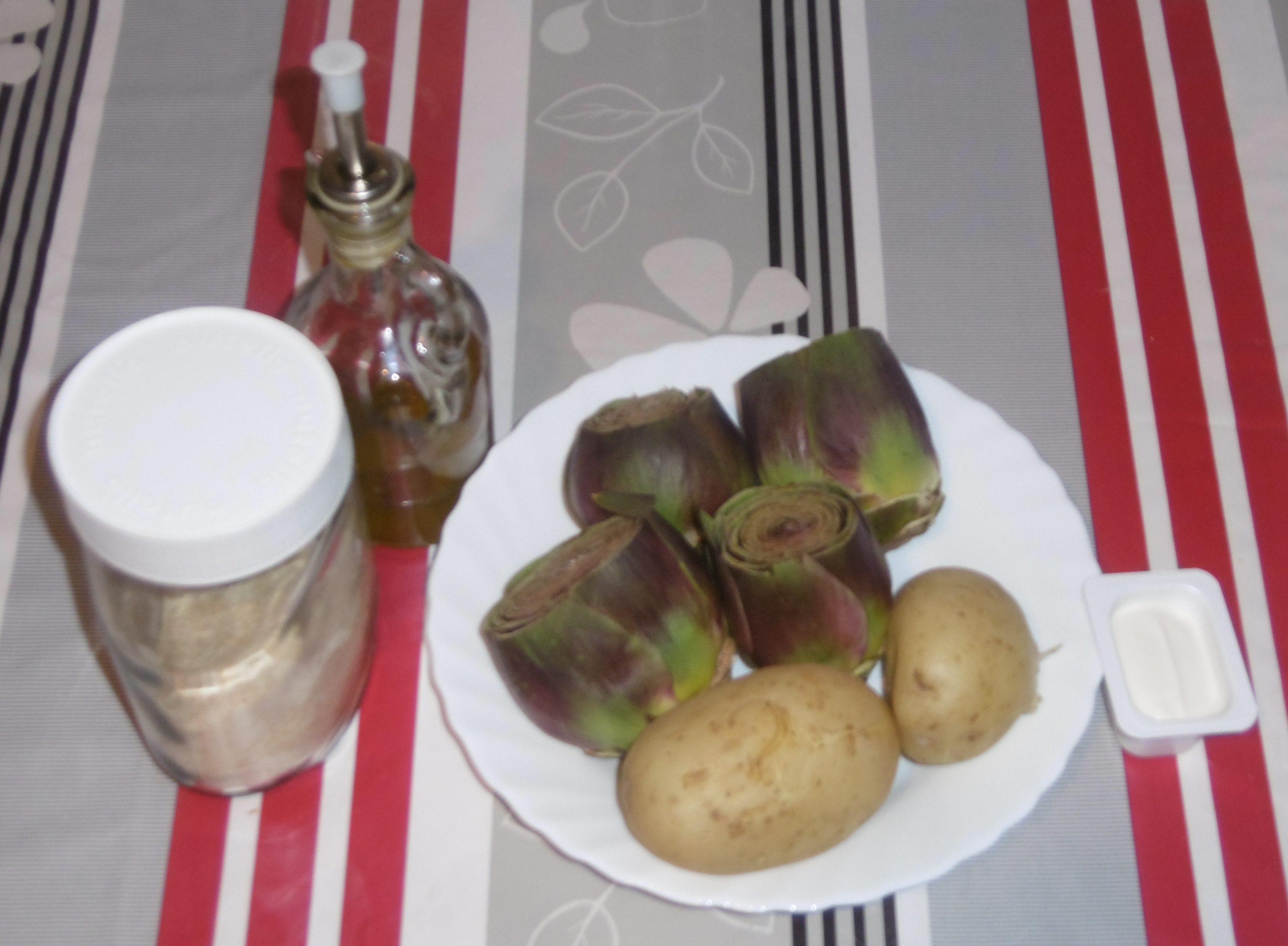 Carciofi ripieni con patate e formaggio - Ingredienti