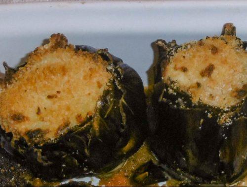 Carciofi ripieni con patate e formaggio - Piatto pronto