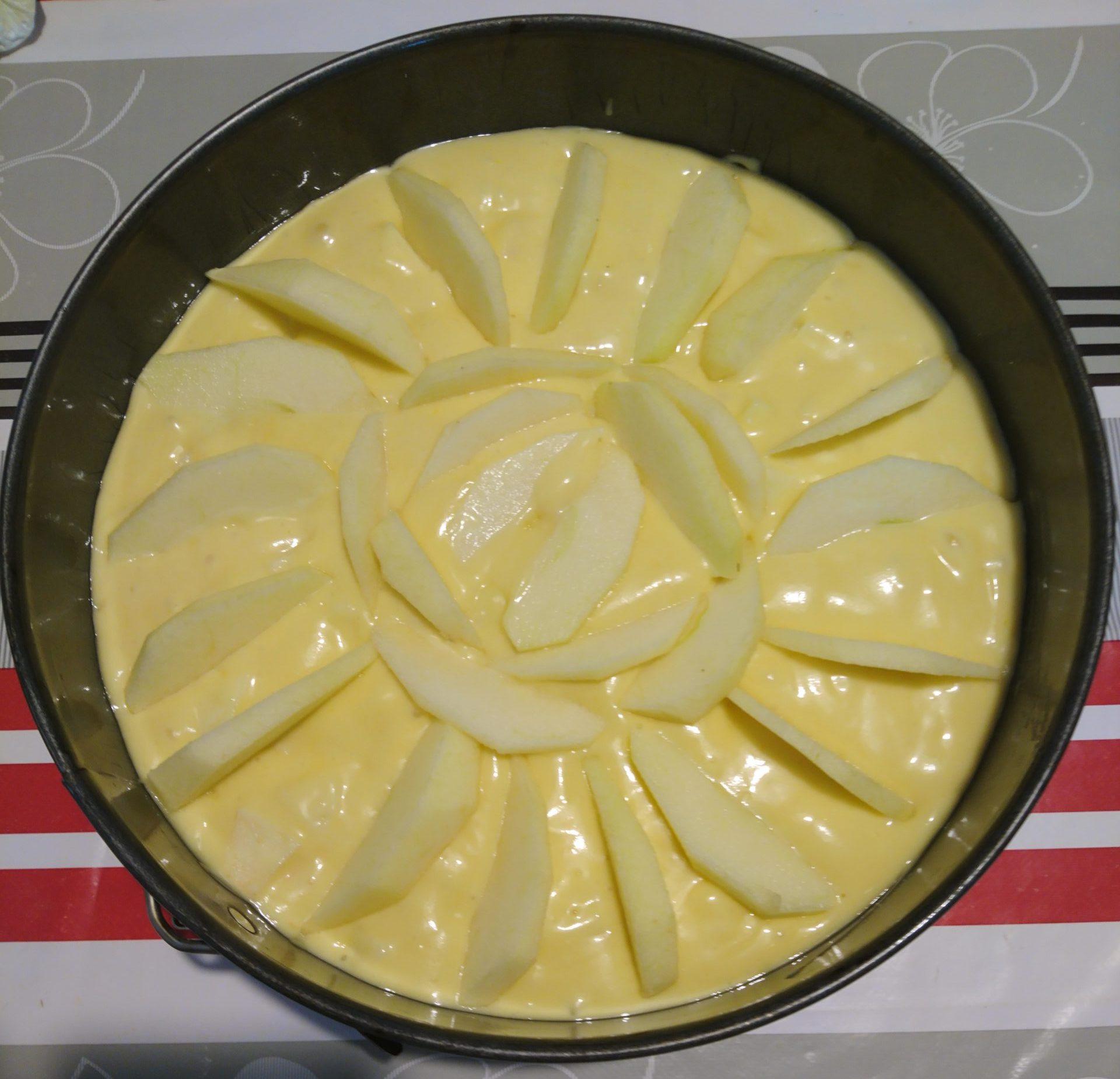 Torta di mele e yogurt - Torta cruda