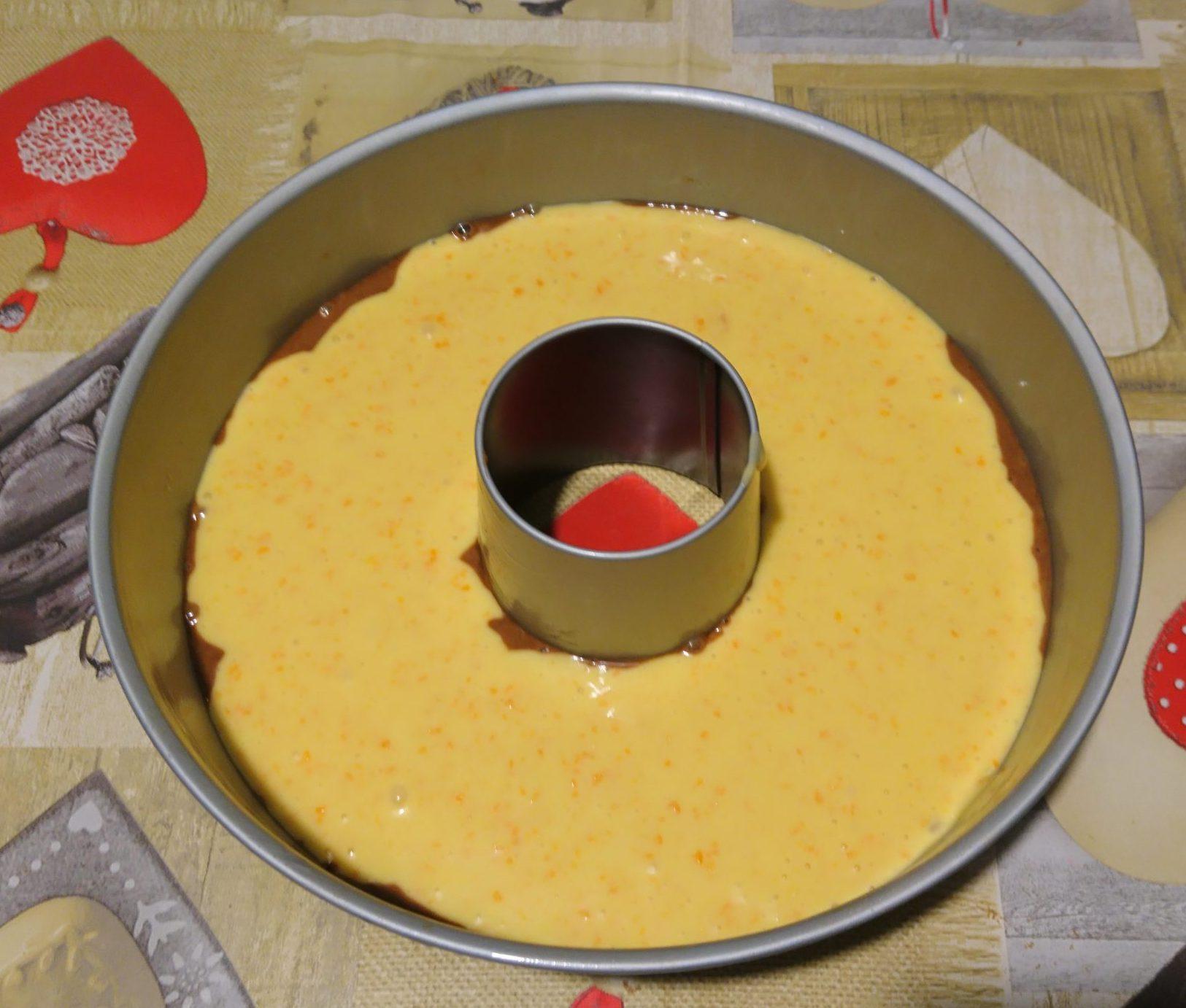 Ciambellone zucca e cioccolato senza burro - Impasto bianco