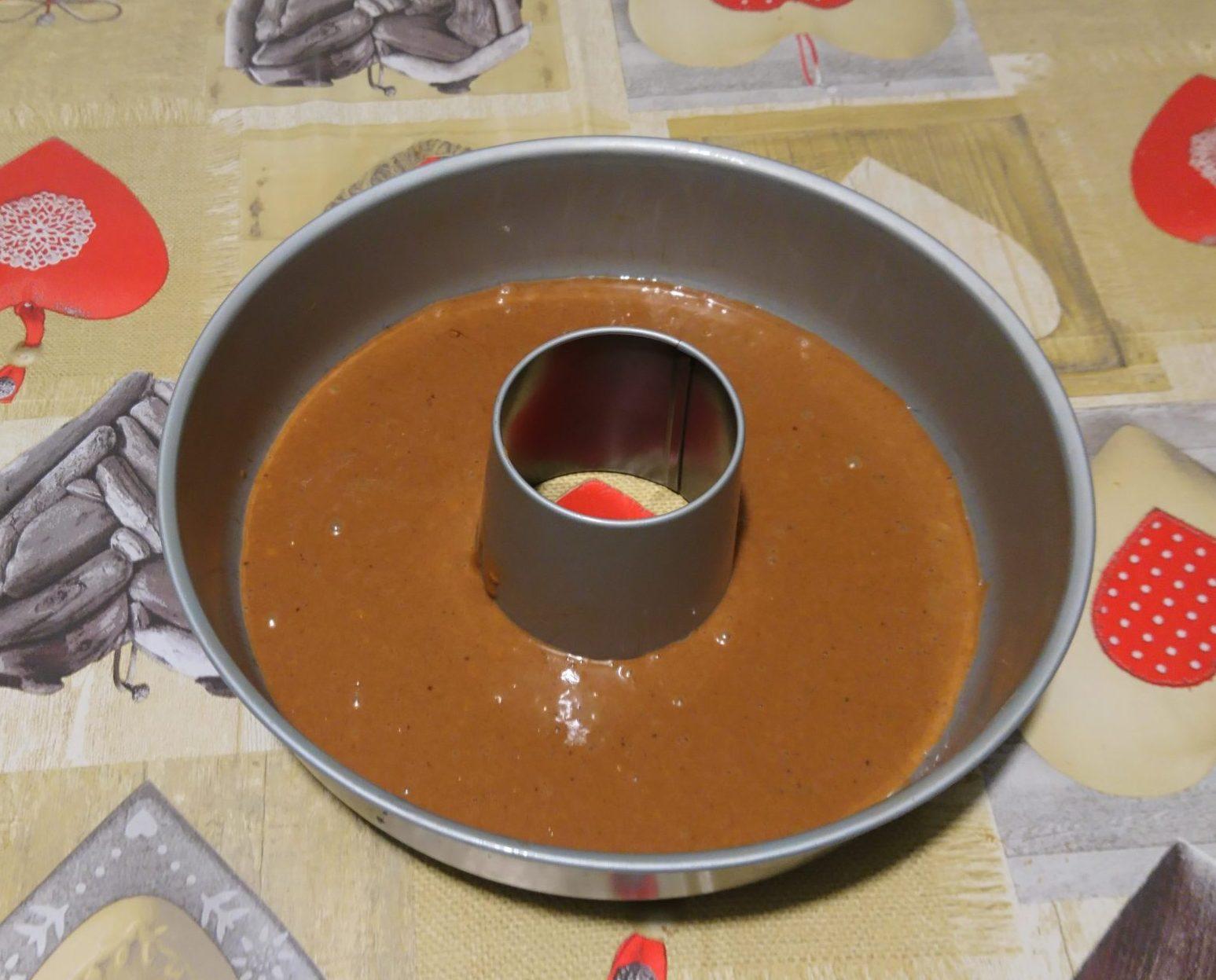 Ciambellone zucca e cioccolato senza burro - Impasto cioccolato